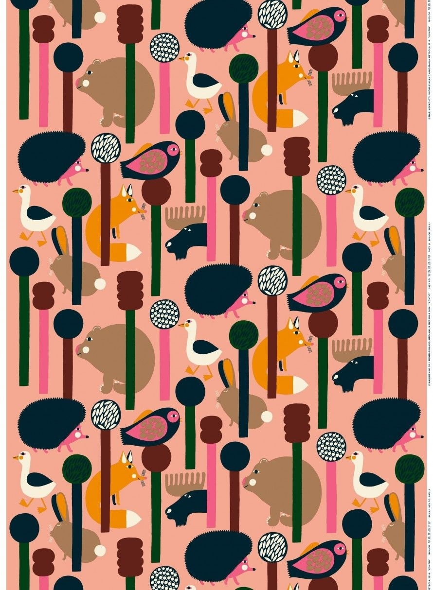 Kontio Puuvillakangas | Tiles, Wallpapers, Prints, Patterns For Most Up To Date Marimekko 'karkuteilla' Fabric Wall Art (View 3 of 15)