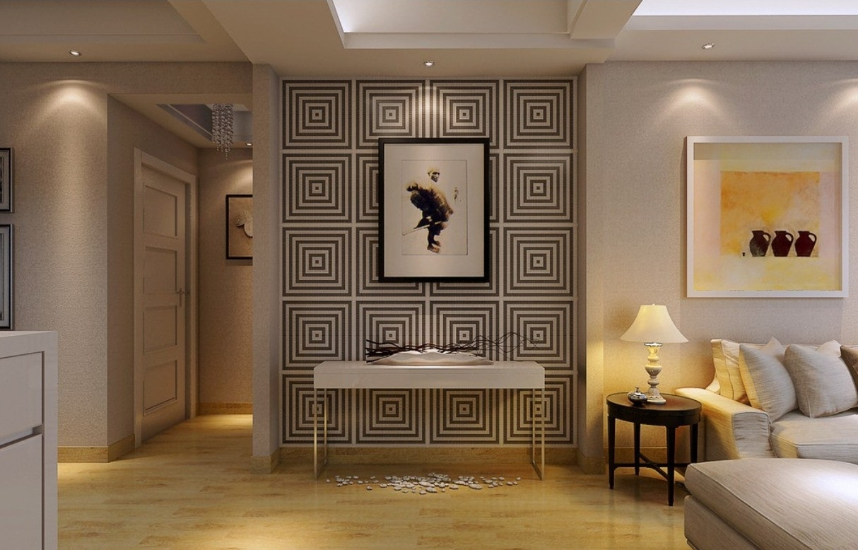 Korean Bedroom Interior Design With Wall Art Decoration Ideas in Latest Asian Fabric Wall Art