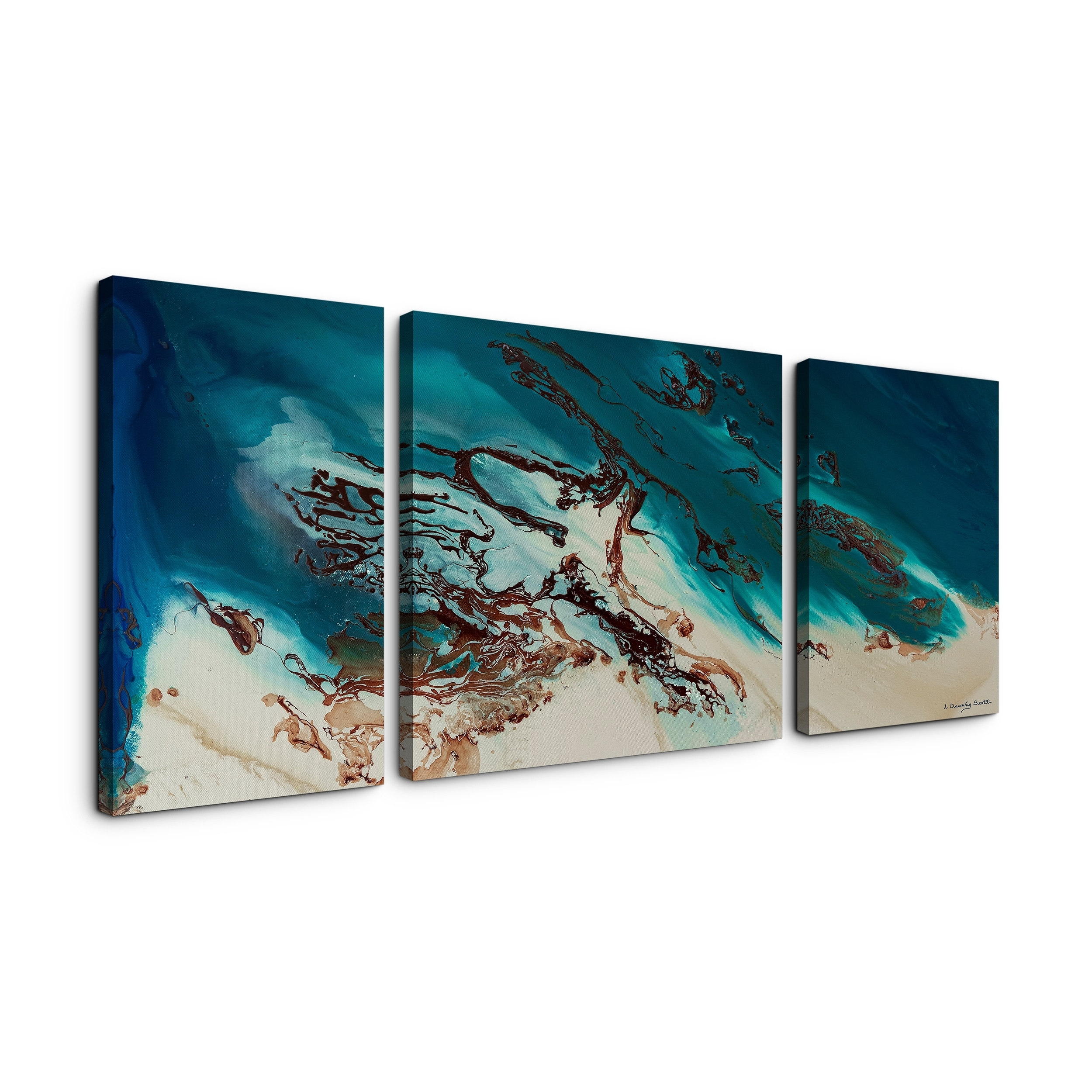 L Dawning Scott 'coastal Beauty' 30X60 Triptych Canvas Wall Art Inside 2017 Joval Canvas Wall Art (View 7 of 15)