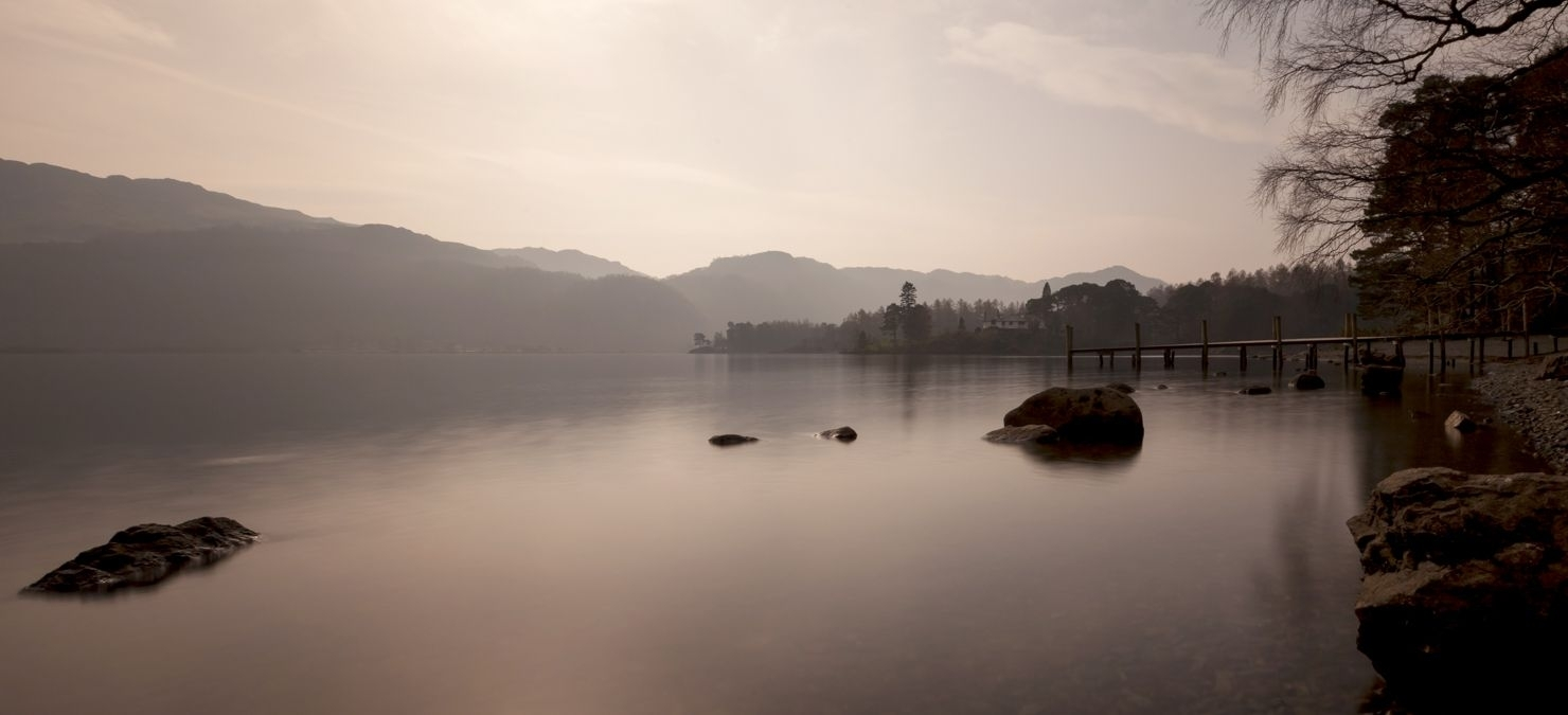Landscape Canvas Framed Wall Art – Misty Lake District Intended For Most Up To Date Lake District Canvas Wall Art (View 8 of 15)