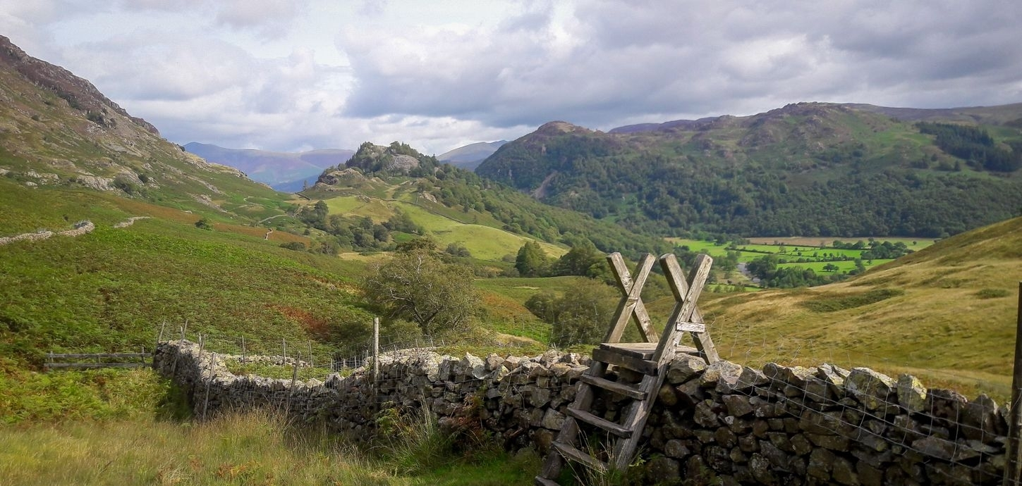 Landscape Canvas Framed Wall Art – Walking At The Lake District With Regard To Most Up To Date Lake District Canvas Wall Art (View 15 of 15)