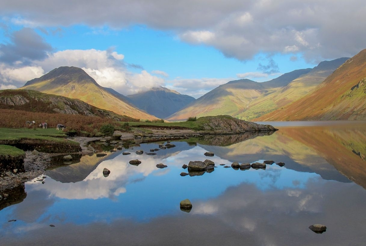 Landscape Framed Canvas Wall Art – Reflections Of The Lake District Within Most Popular Lake District Canvas Wall Art (View 4 of 15)