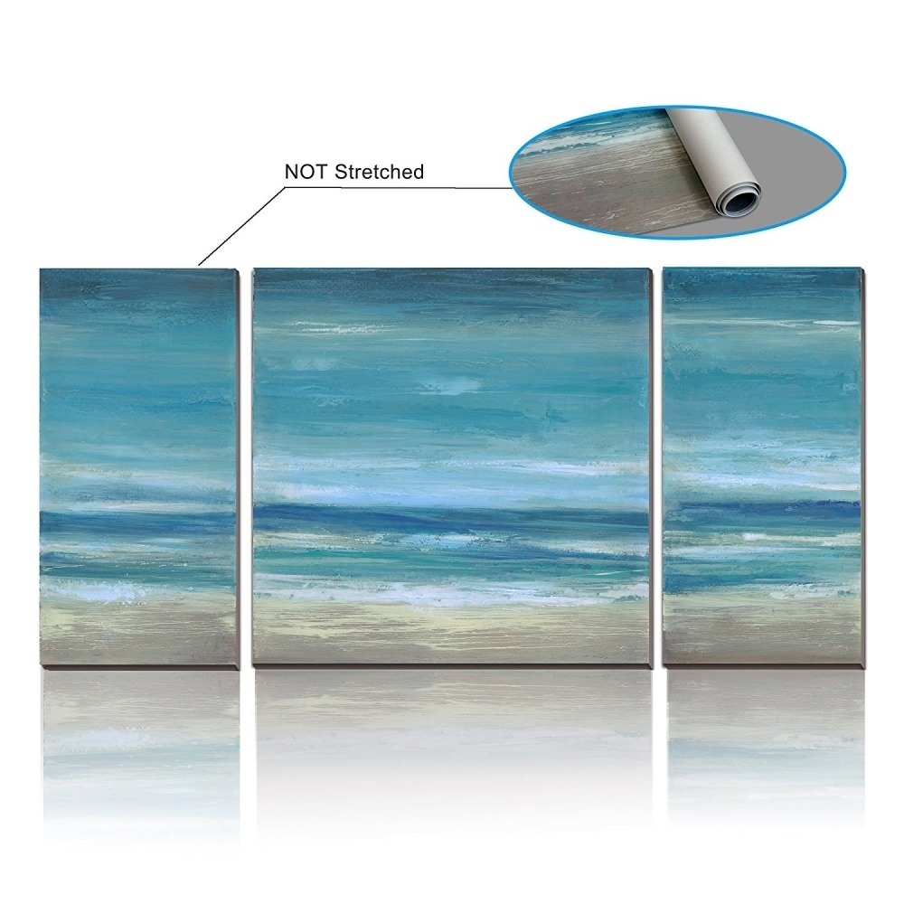 Large Canvas Wall Art Duck Egg Blue Seascape Picture Unframed 105 Pertaining To Newest Duck Egg Canvas Wall Art (View 7 of 15)