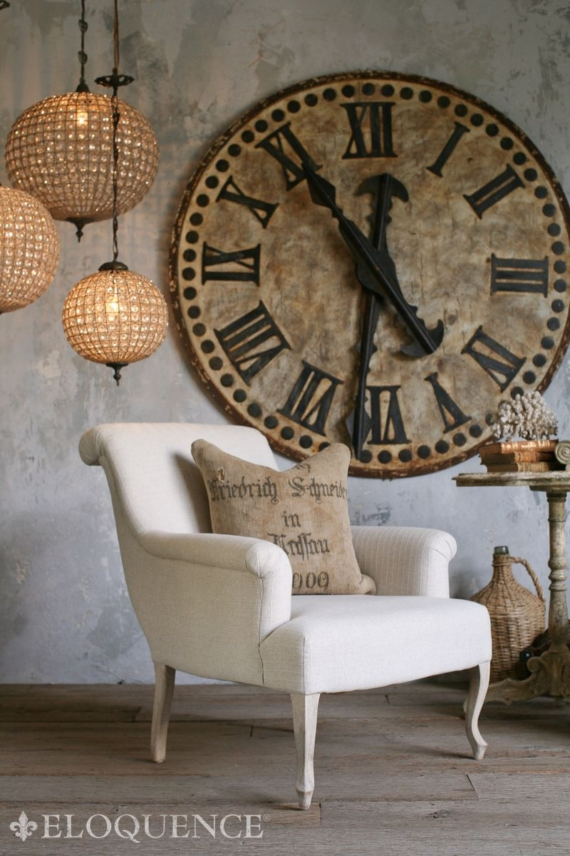 Large Patina Clock On Wall Love, Love, Love These Huge Old Inside Most Current Clock Wall Accents (View 14 of 15)