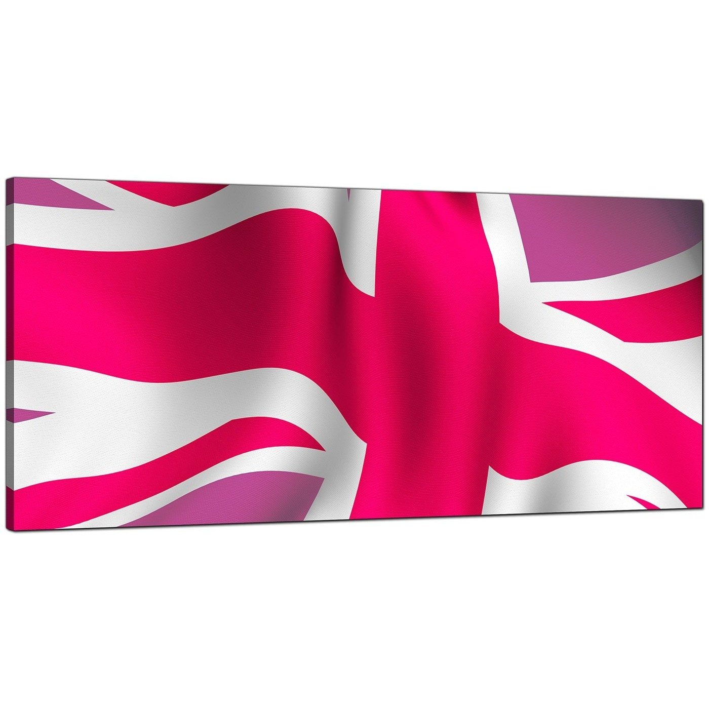 Large Pink Canvas Wall Art Of The Union Jack - 1012 with regard to Most Popular Union Jack Canvas Wall Art