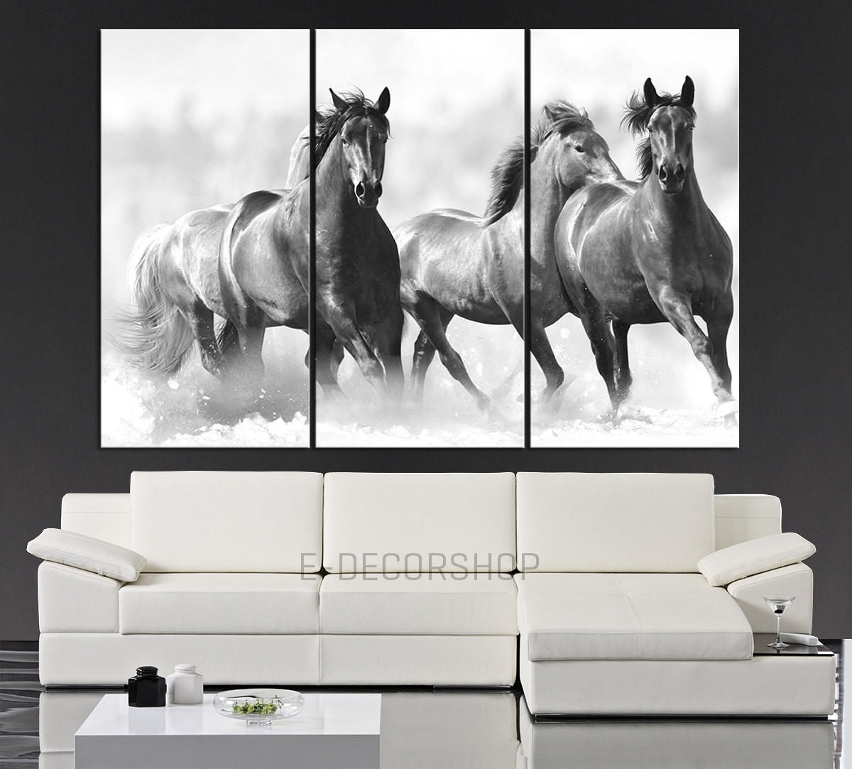 Large Wall Art Running Wild Horses Canvas From Mycanvasprint Intended For Newest Horses Canvas Wall Art (View 9 of 15)