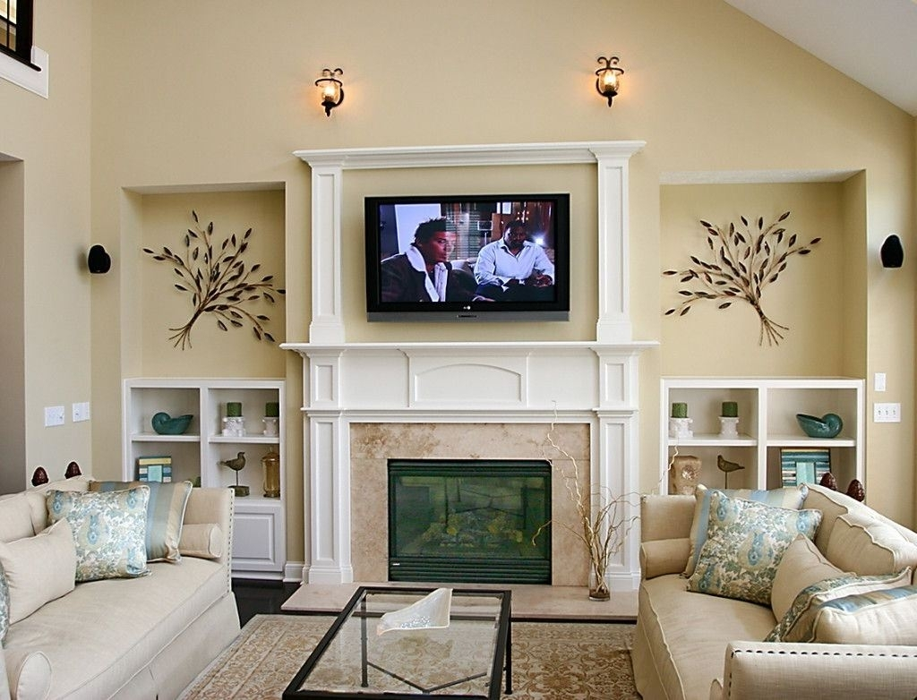 Large Wall Decor White Sofa Small Living Room Ideas On A Budget Pertaining To Recent Wall Accents For Small Living Room (View 6 of 15)
