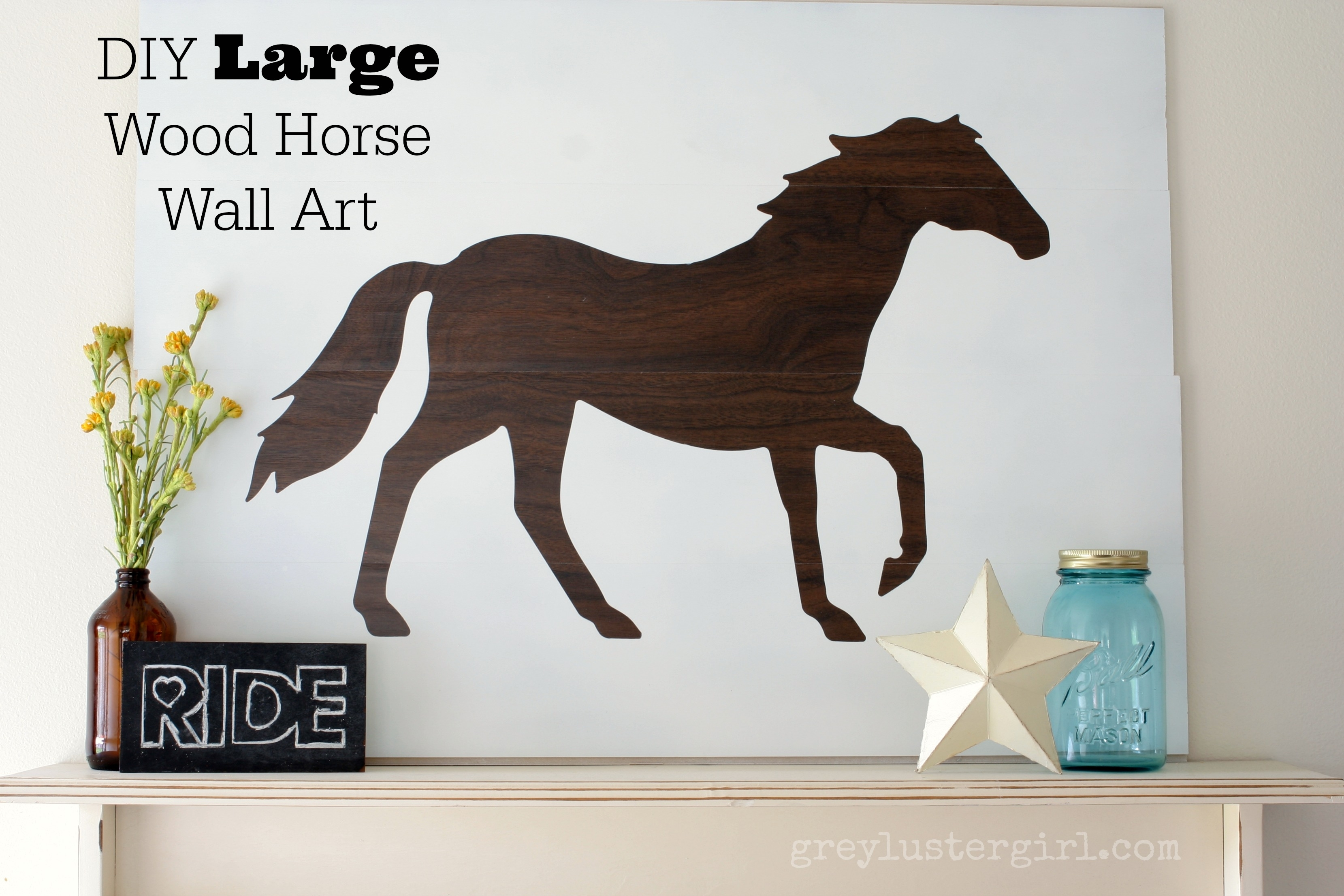 Large Wood Horse Wall Art And Silhouette Portrait Giveaway – For Most Recently Released Fabric Animal Silhouette Wall Art (Gallery 3 of 15)