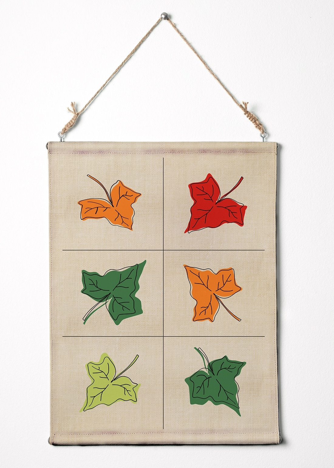 """Leafs On Fabric Texture. Wall Art Canvas Wall Hanging. 12.5"""" X (View 5 of 15)"""