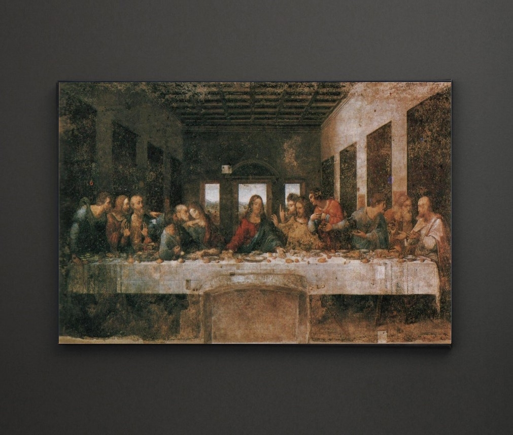 Leonardo Da Vinci Last Supper A4 Framed/box Canvas A4 A3 A2 A1 In Recent Leadgate Canvas Wall Art (View 9 of 15)