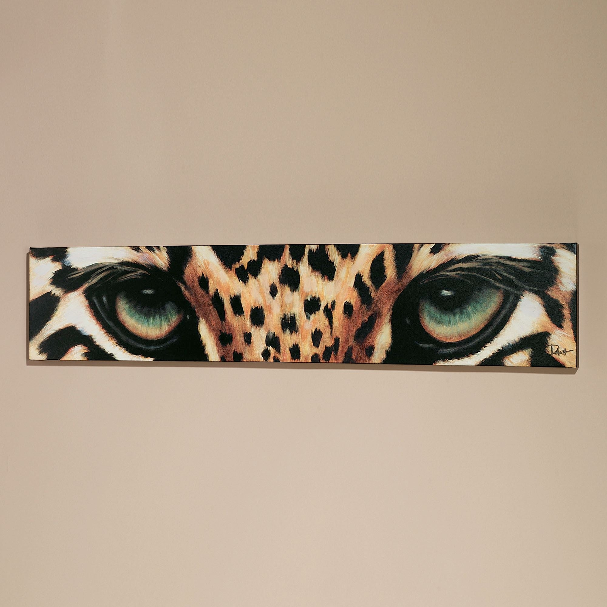 Leopard Eyes Canvas Art Within Most Popular Safari Canvas Wall Art (View 4 of 15)