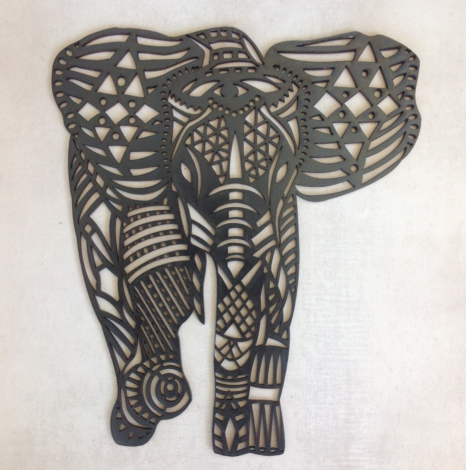 Let This Fancy Elephant Grace Your Wall! The Elephant Is A3 Size with regard to Best and Newest African Wall Accents