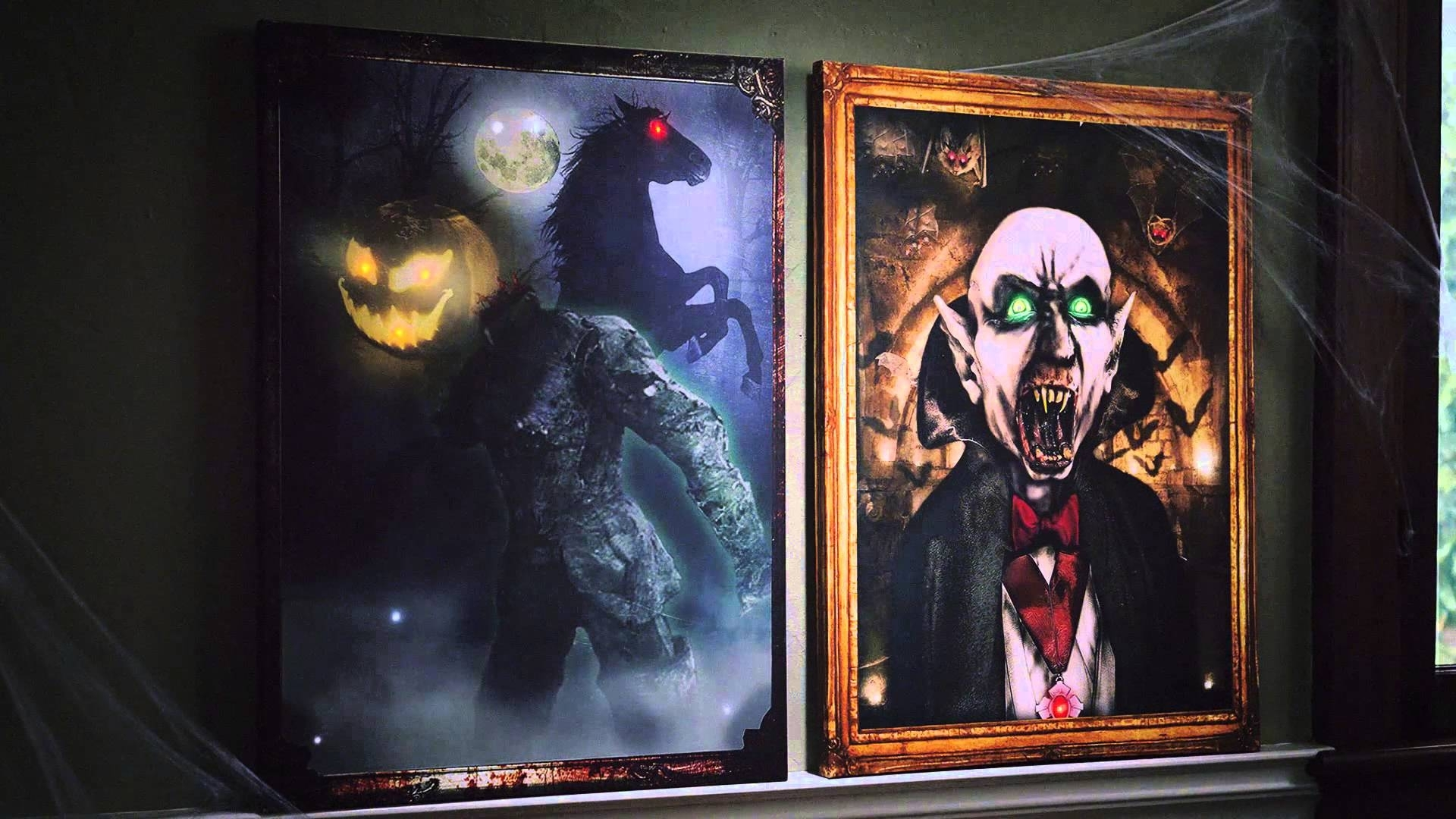 Light Up Halloween Canvas – Youtube With Best And Newest Halloween Led Canvas Wall Art (Gallery 1 of 15)