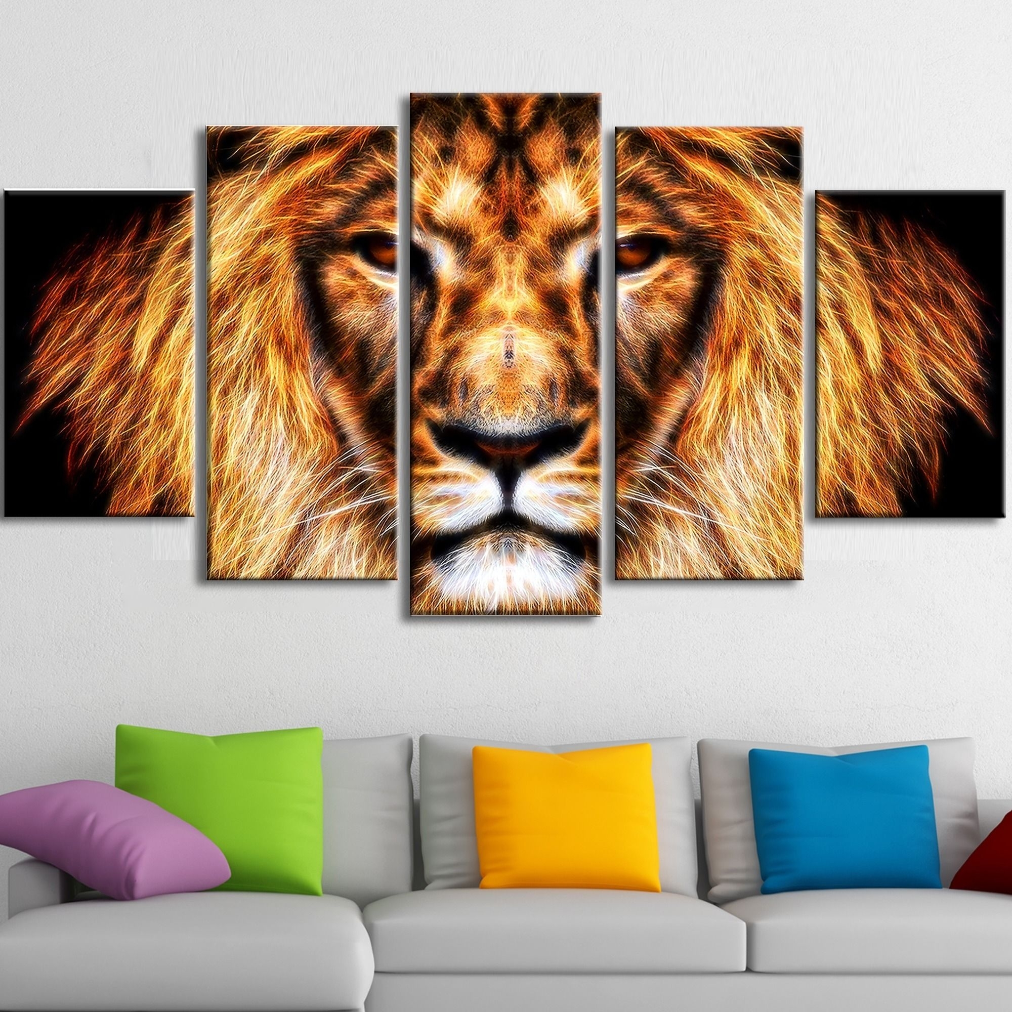 Li>Hear Him Roar - Lion Animal Canvas - Multiple Sizes</li> <Li regarding Most Recent Lion King Canvas Wall Art
