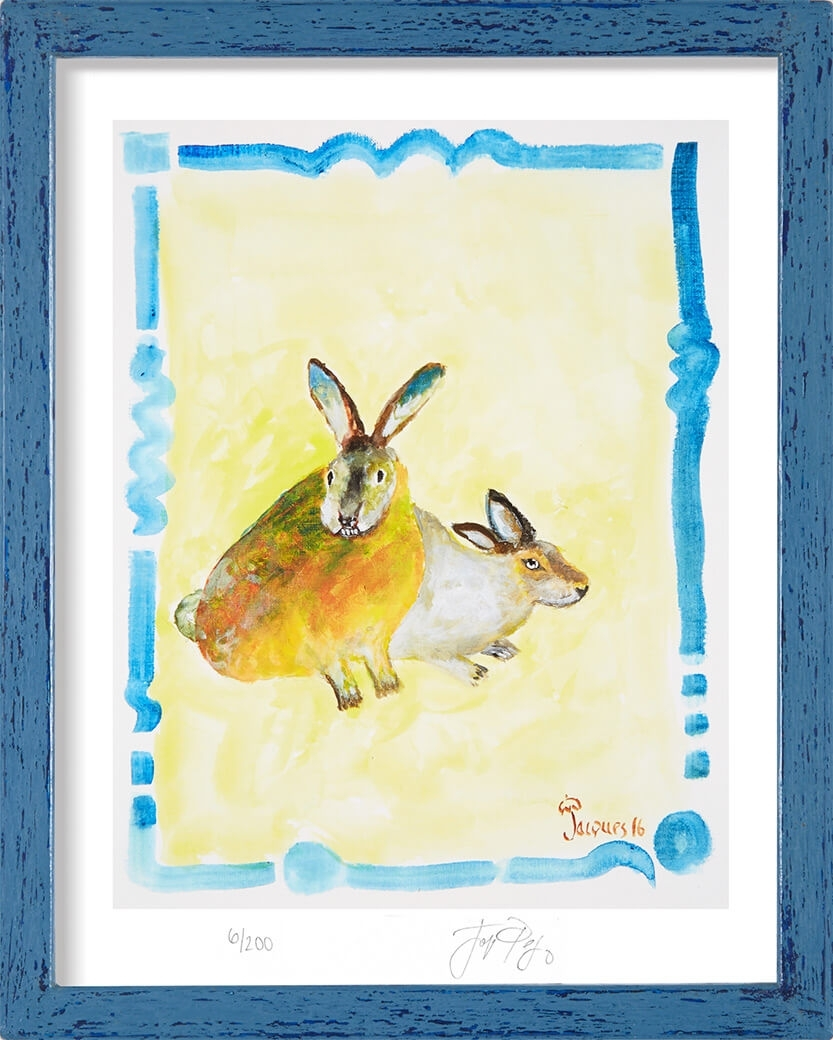 Limited Edition Print Of Jacques Pepin's Original Animal Art Pertaining To Most Current Framed Animal Art Prints (View 9 of 15)