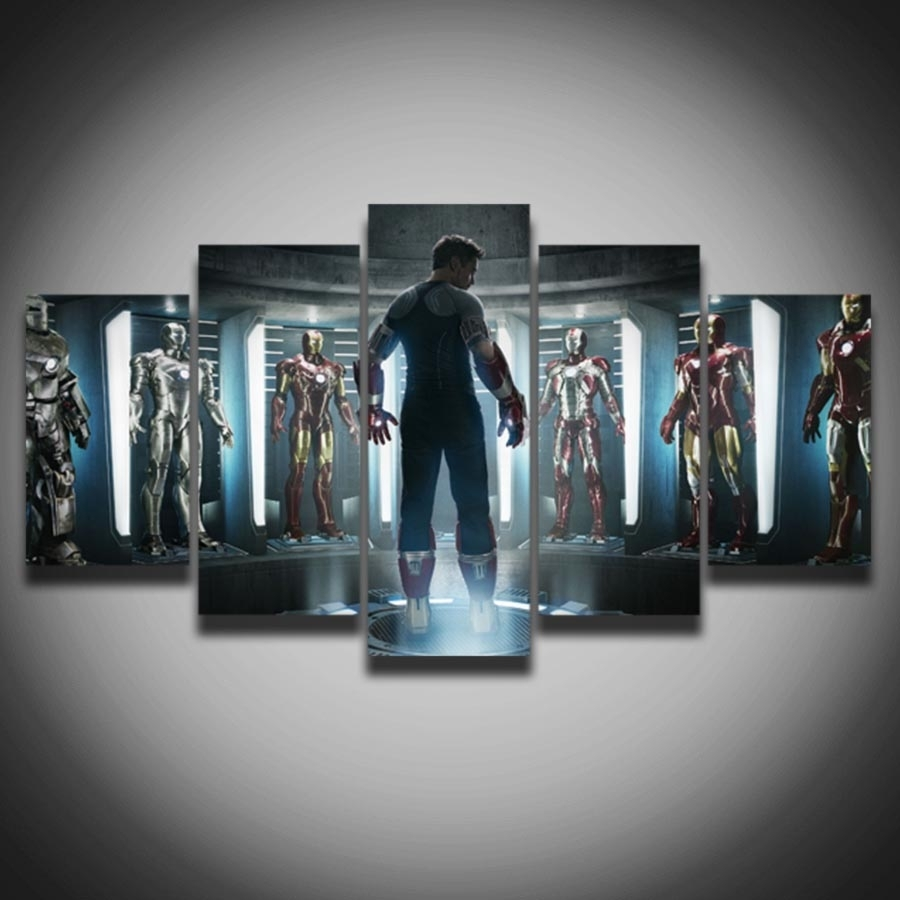 Limited Movie Posters Marvel Iron Man Picture Painting On Canvas 5 In Most Current Movies Canvas Wall Art (Gallery 1 of 15)