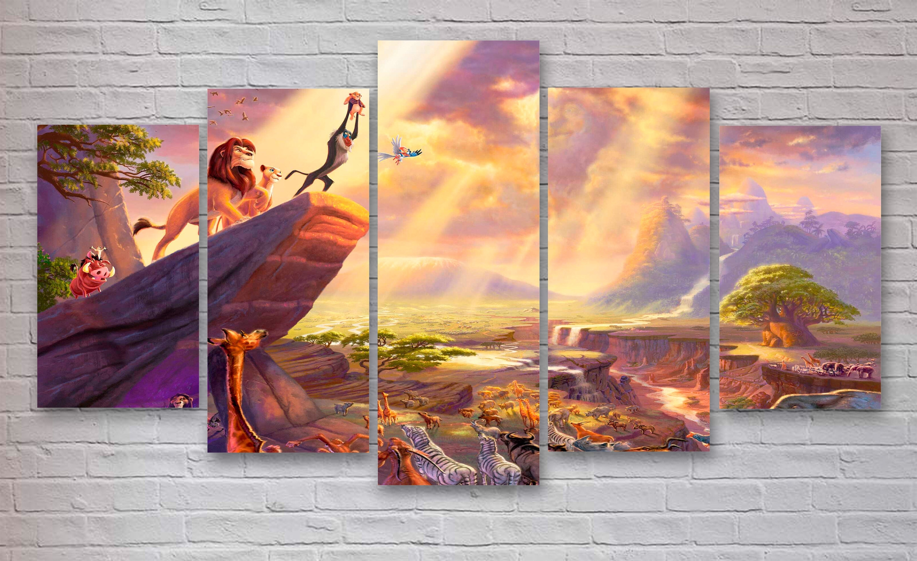 Lion King Movie Canvas, Disney World Wall Art, Lion King Canvas With Regard To Newest Lion King Canvas Wall Art (Gallery 9 of 15)