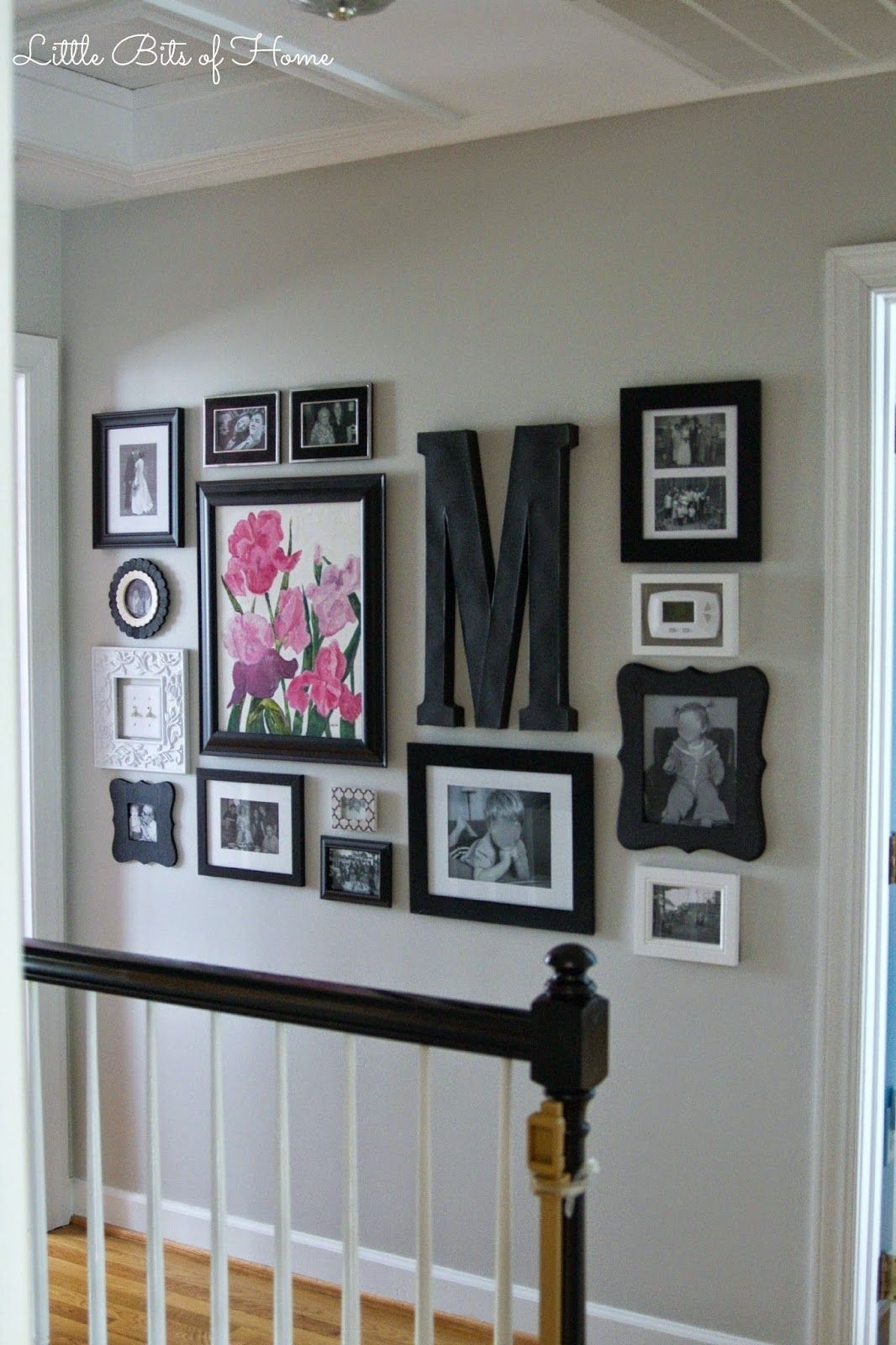 Little Bits Of Home: Hallway Gallery Wall | Gallery Walls In Current Frames Wall Accents (View 6 of 15)