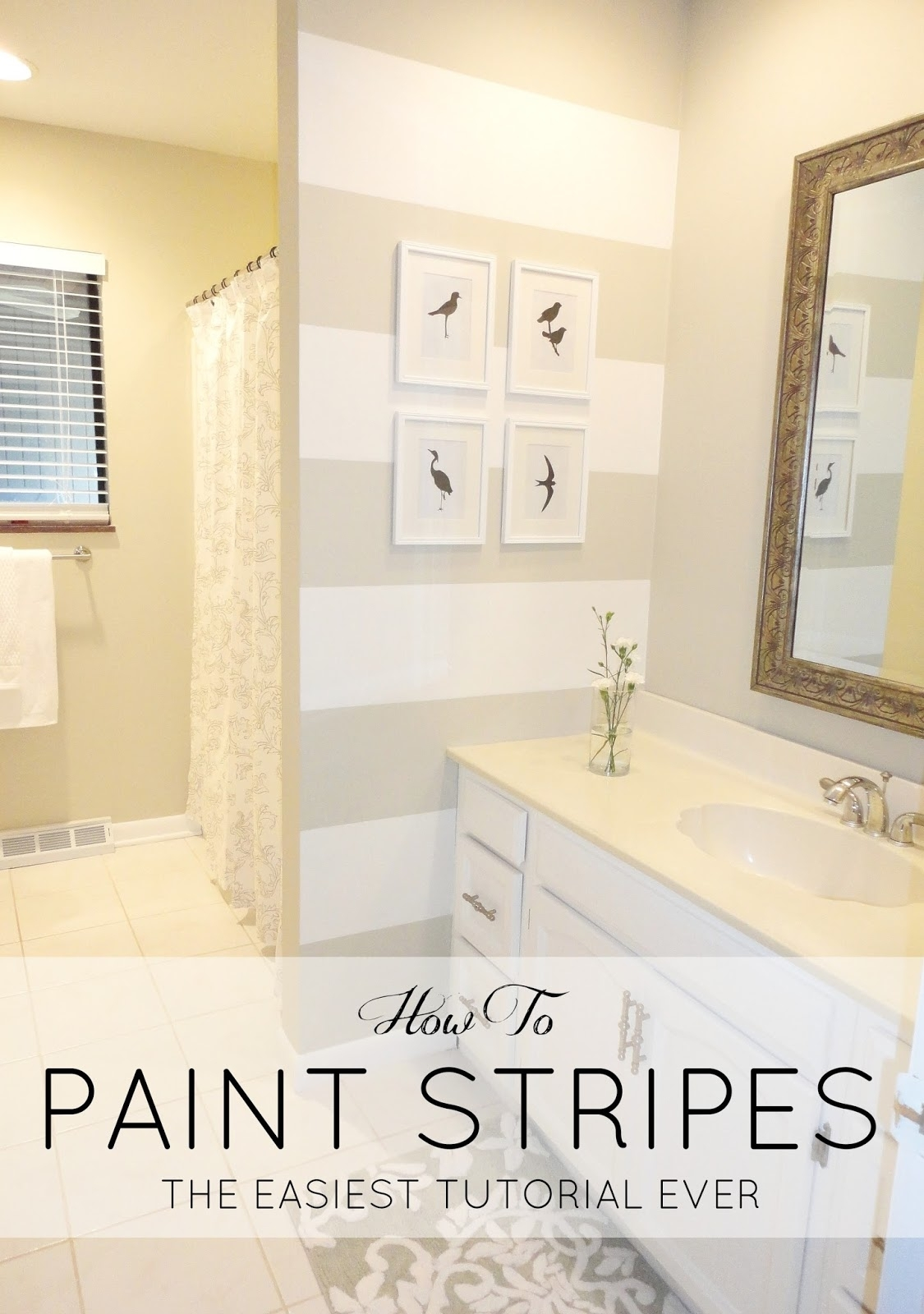 Livelovediy: How To Paint Stripes: The Easiest Tutorial Ever! With Most Recently Released Horizontal Stripes Wall Accents (Gallery 13 of 15)