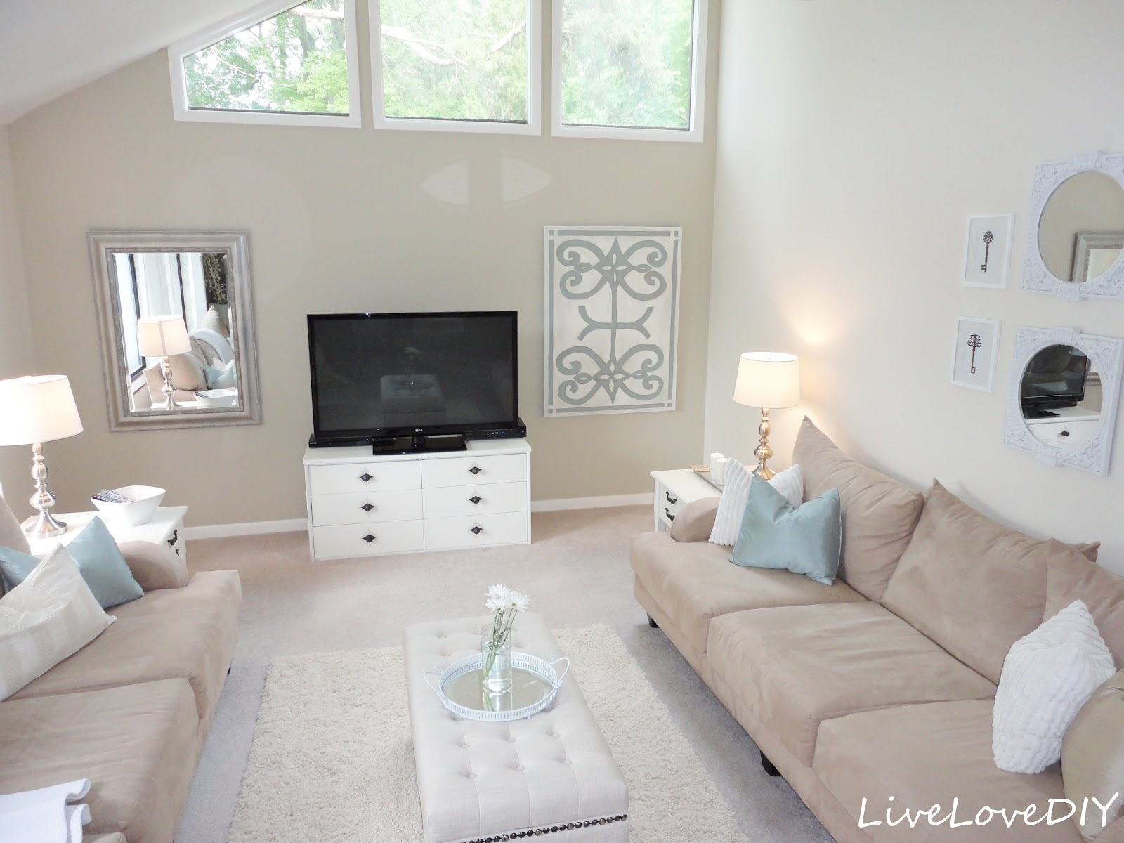 Livelovediy: Living Room Reveal & Diy Wall Art With Regard To Current Neutral Color Wall Accents (View 7 of 15)