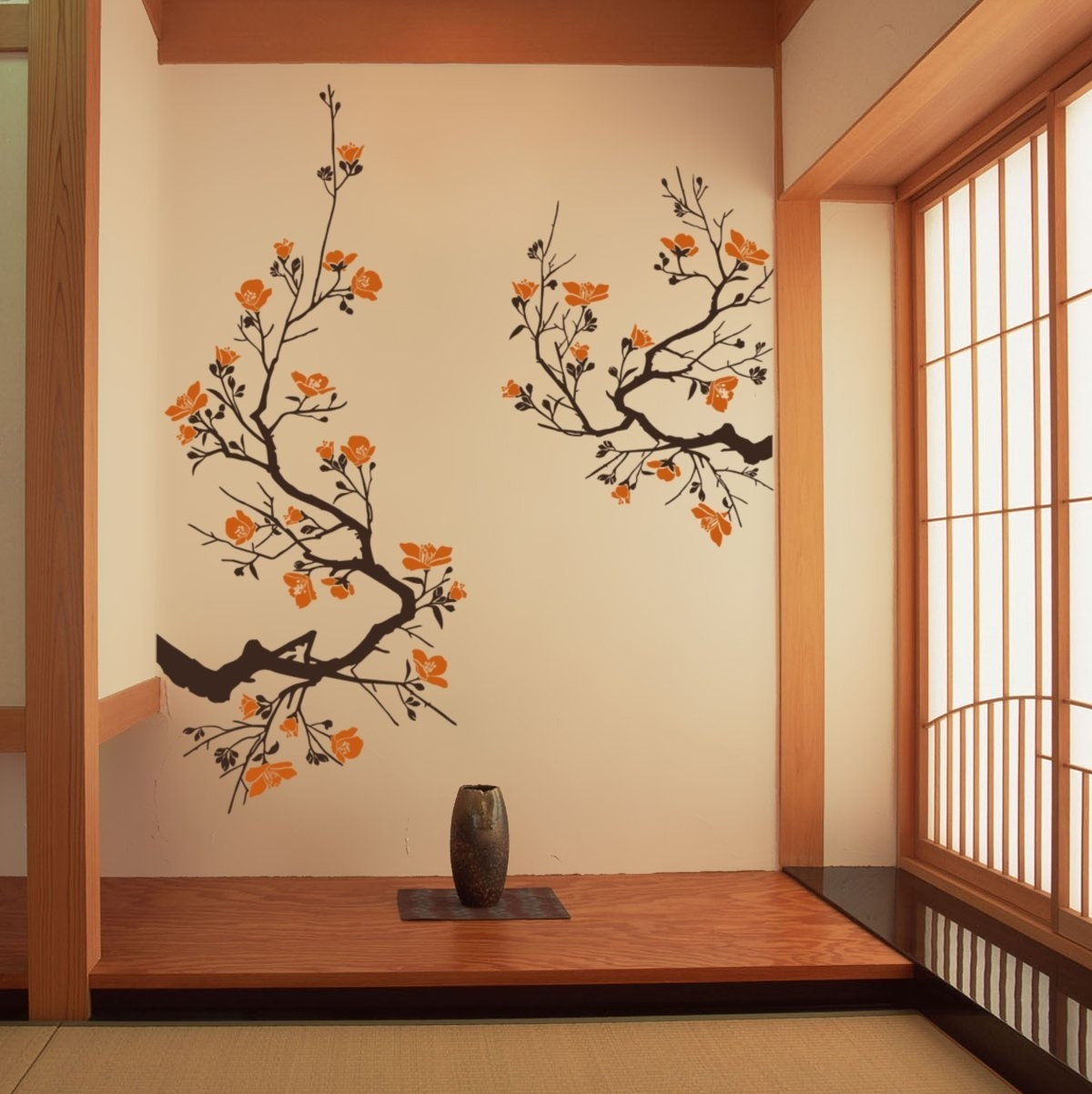 Living Room : 3 Piece Abstract Pattern Wall Canvas Art Brown Stain regarding Best and Newest Asian Fabric Wall Art