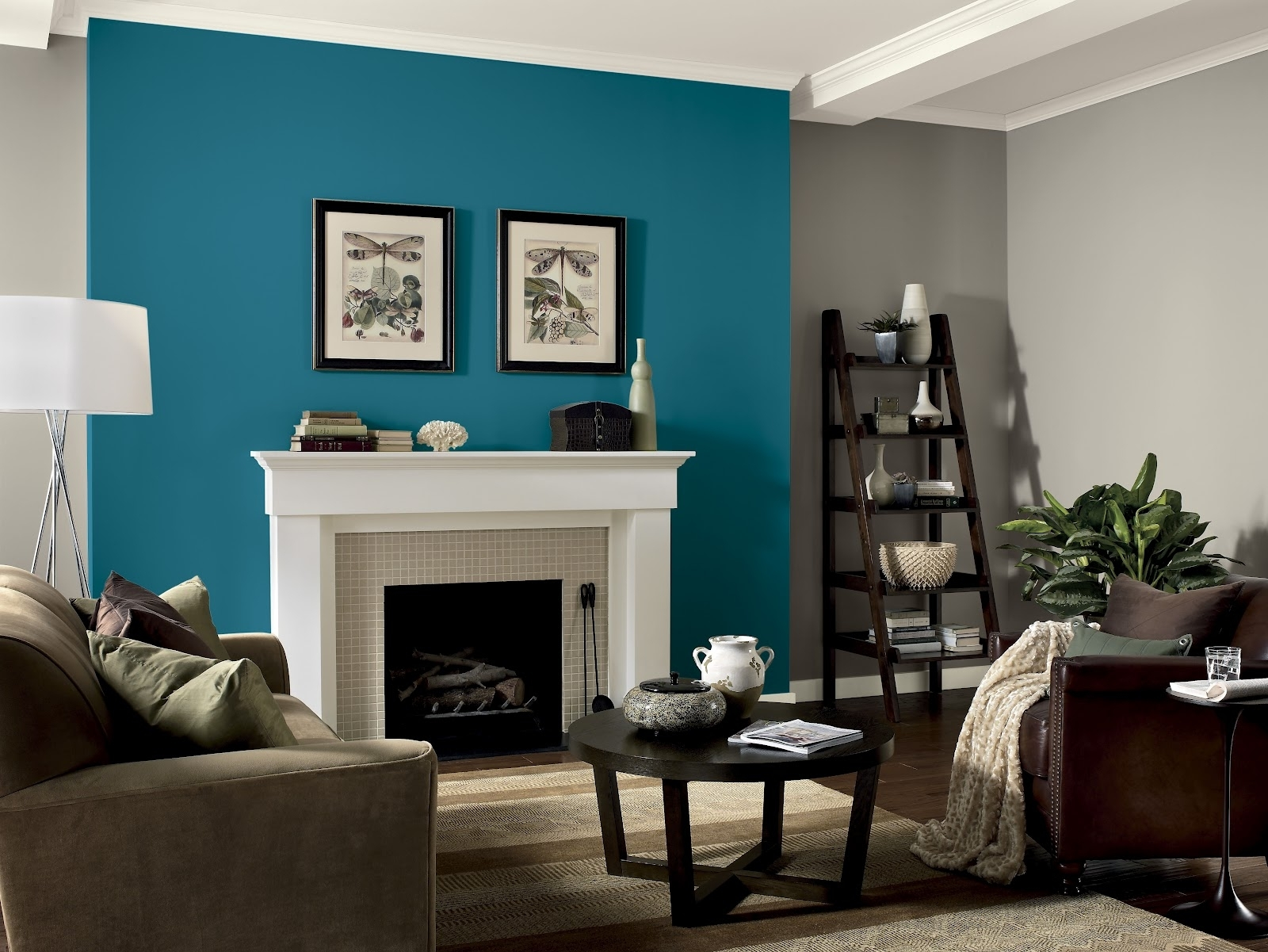 Living Room Accent Wall Paint Ideas Home Interior Design Of With Inside Newest Wall Accents With Paint (View 6 of 15)