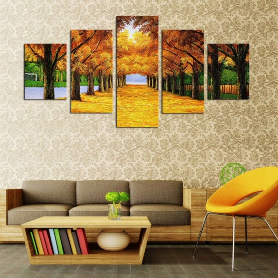 Living Room. Art Canvas And Print As Living Room Decor: 3 Panel with Newest Large Print Fabric Wall Art
