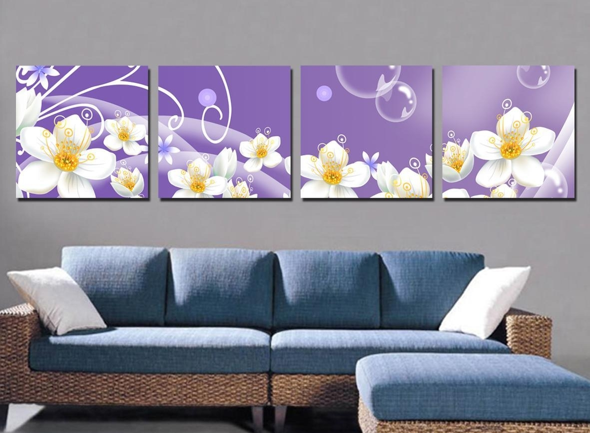 Living Room. Art Canvas And Print As Living Room Decor: White In 2018 Wall Art Fabric Prints (Gallery 10 of 15)