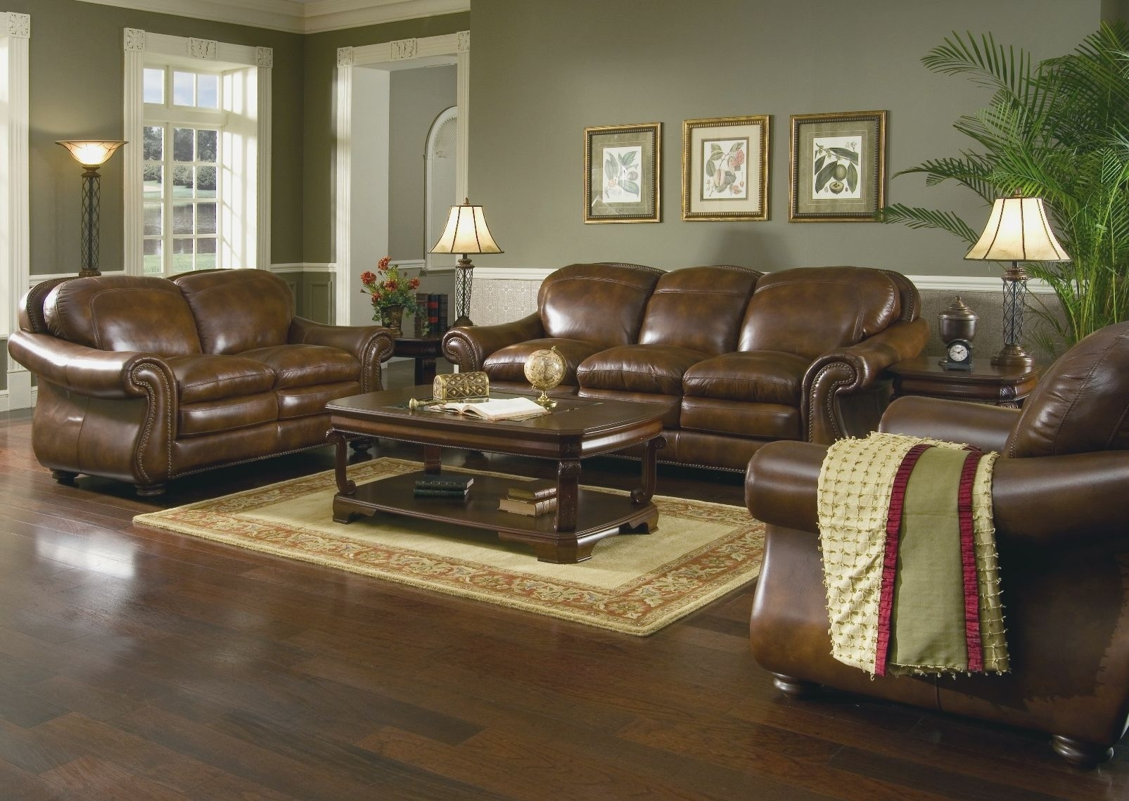 Living Room : Dark Brown Couch Living Room Decor Relaxed Modern Regarding Latest Brown Couch Wall Accents (Gallery 9 of 15)