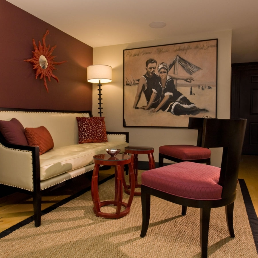 Living Room Maroon Simple Sitting Ideas – Otbnuoro In Most Recent Maroon Wall Accents (View 8 of 15)