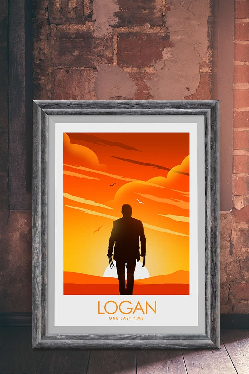 Logan Wolverine Inspired Poster, Movie Poster, Wall Art For Most Recently Released Howard Stern Canvas Wall Art (Gallery 3 of 15)