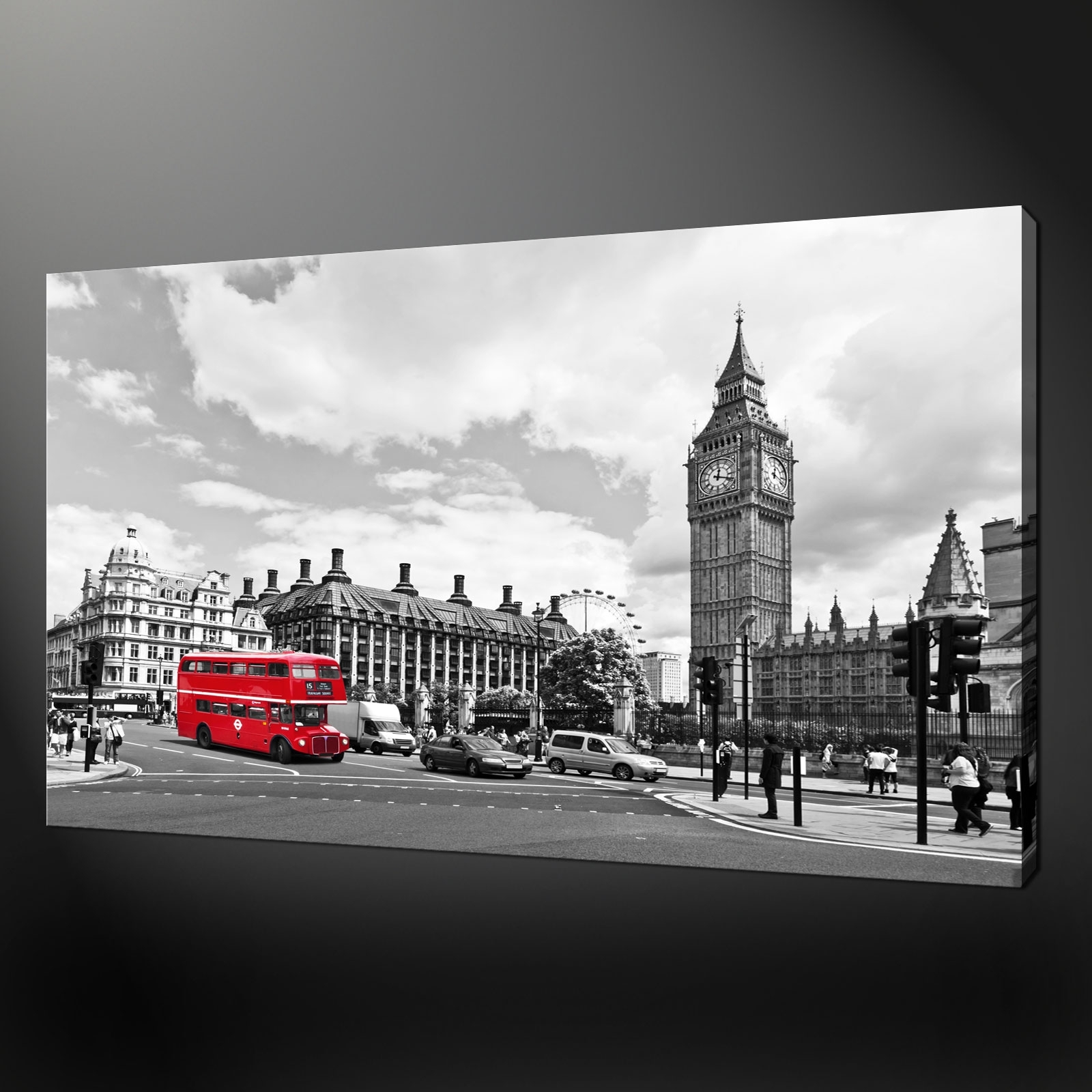 London Big Ben Canvas Print Picture with regard to Latest London Canvas Wall Art