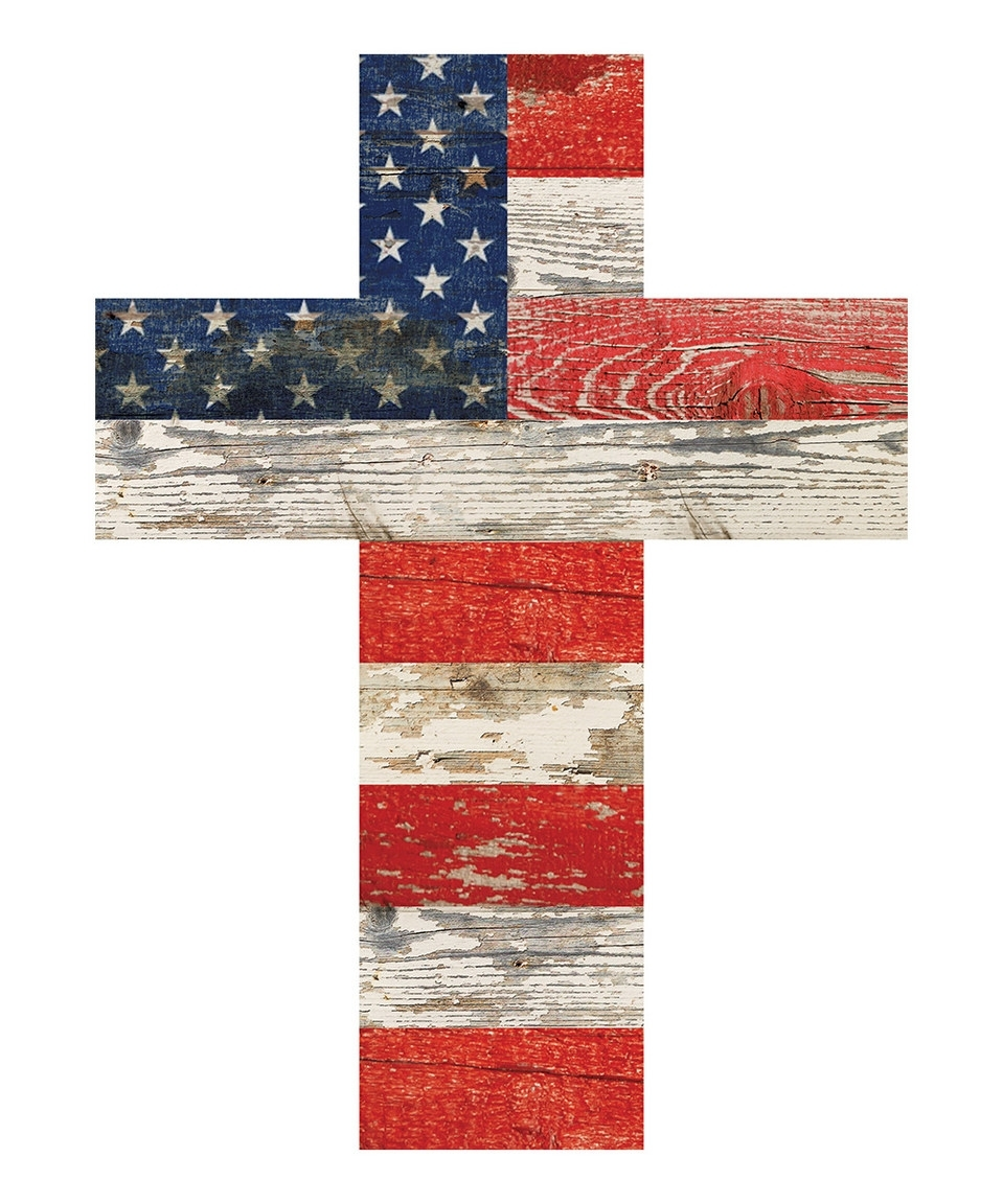 Look What I Found On #zulily! Small American Flag Cross Wall Art Regarding Most Recent American Flag Fabric Wall Art (View 10 of 15)
