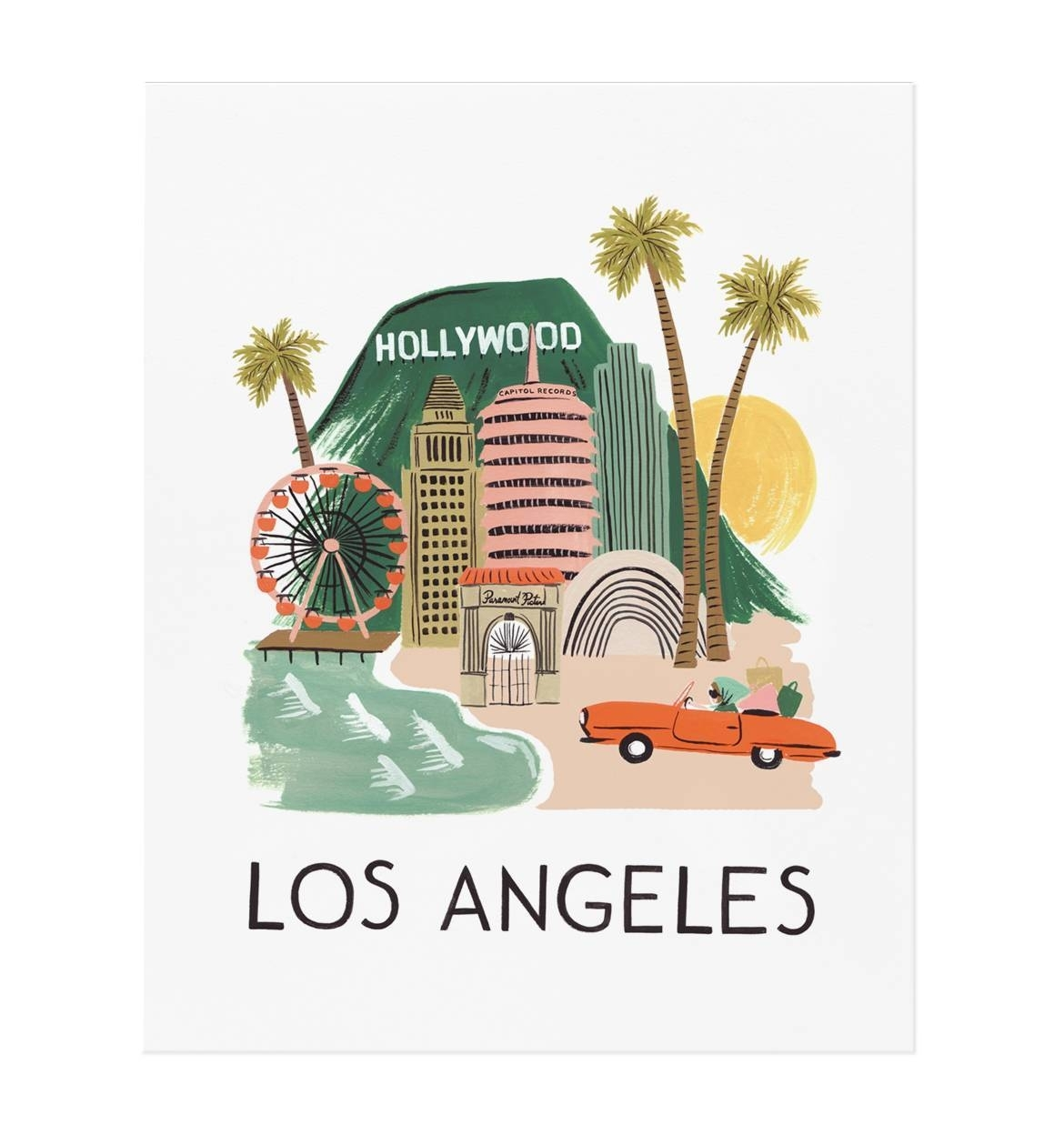 Los Angeles Art Printrifle Paper Co. | Made In Usa Intended For Most Popular Los Angeles Framed Art Prints (Gallery 6 of 15)