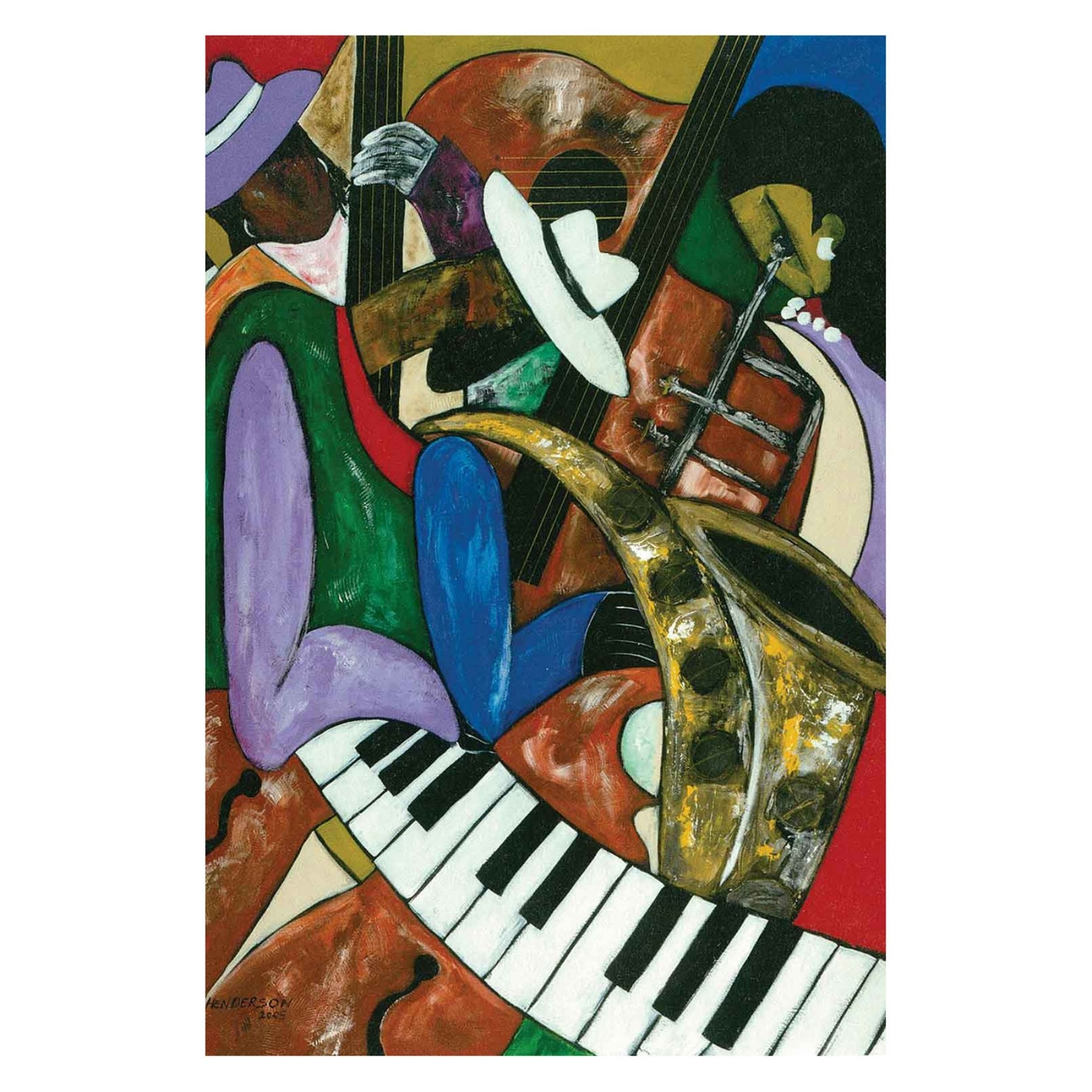 Louis Leonard Art Jazz Composerskelvin Henderson Canvas Wall throughout Recent Jazz Canvas Wall Art