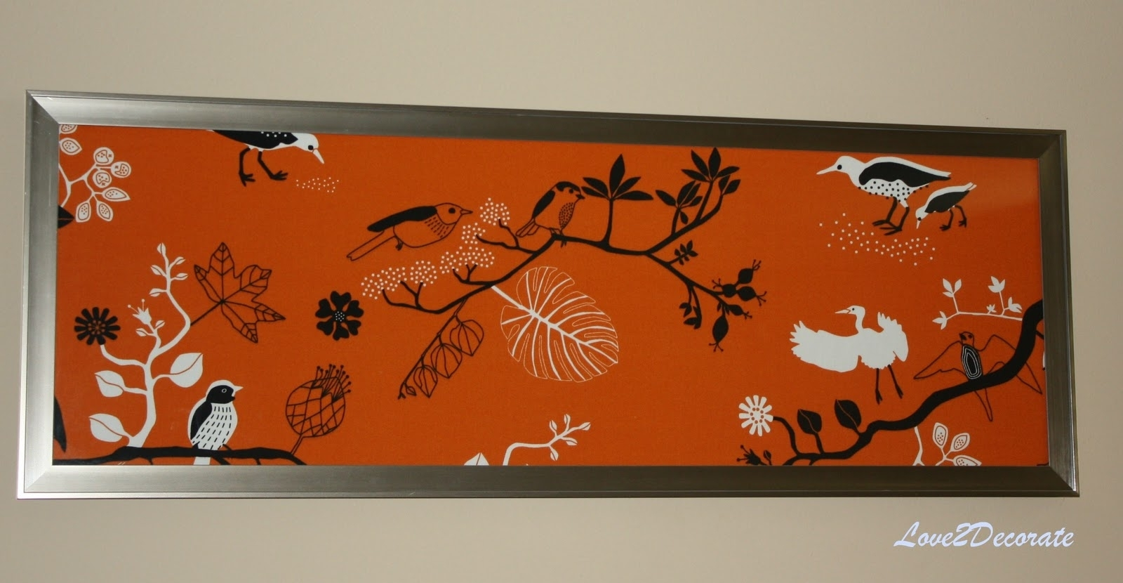 Love 2 Decorate: Frame + Fabric = Wall Art For Most Recent Red Fabric Wall Art (View 10 of 15)