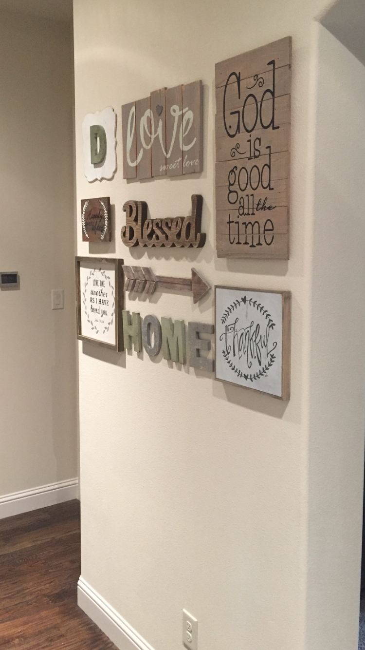 Love My New Gallery Wall!! Found Most Everything At Hobby Lobby Throughout Most Recently Released Hobby Lobby Wall Accents (View 8 of 15)