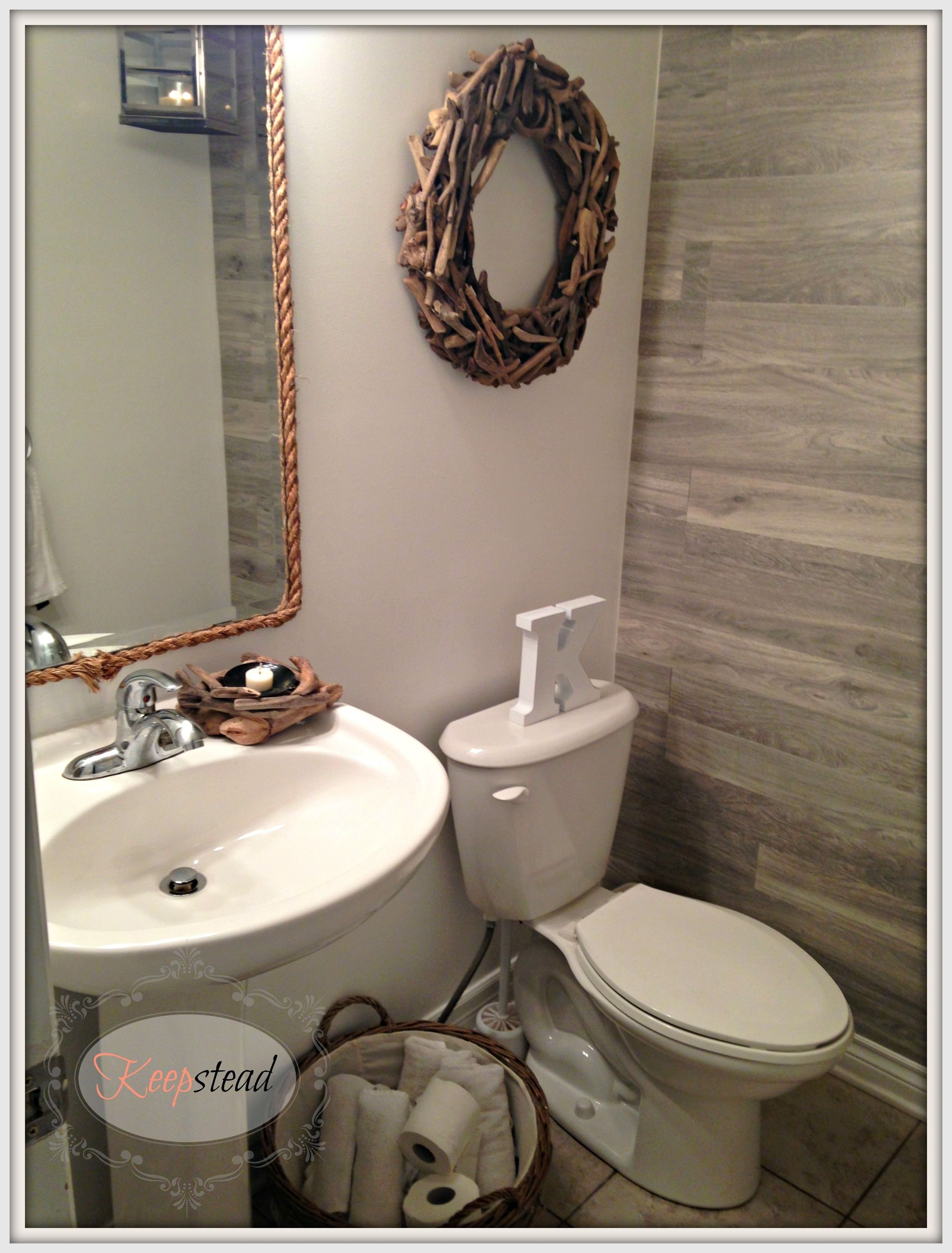 Love The Laminate On The Wall | Half Bath | Pinterest | Walls In Newest Wall Accents Behind Toilet (Gallery 12 of 15)