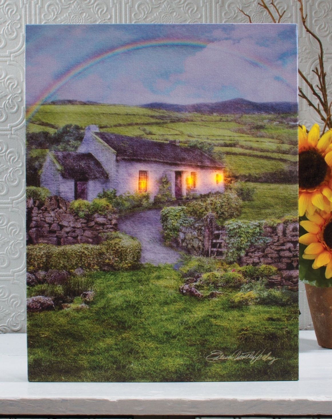 Love This St Patrick's Day Decor~Lighted Irish Farm Cottage Wall For Most Current Ireland Canvas Wall Art (Gallery 10 of 15)