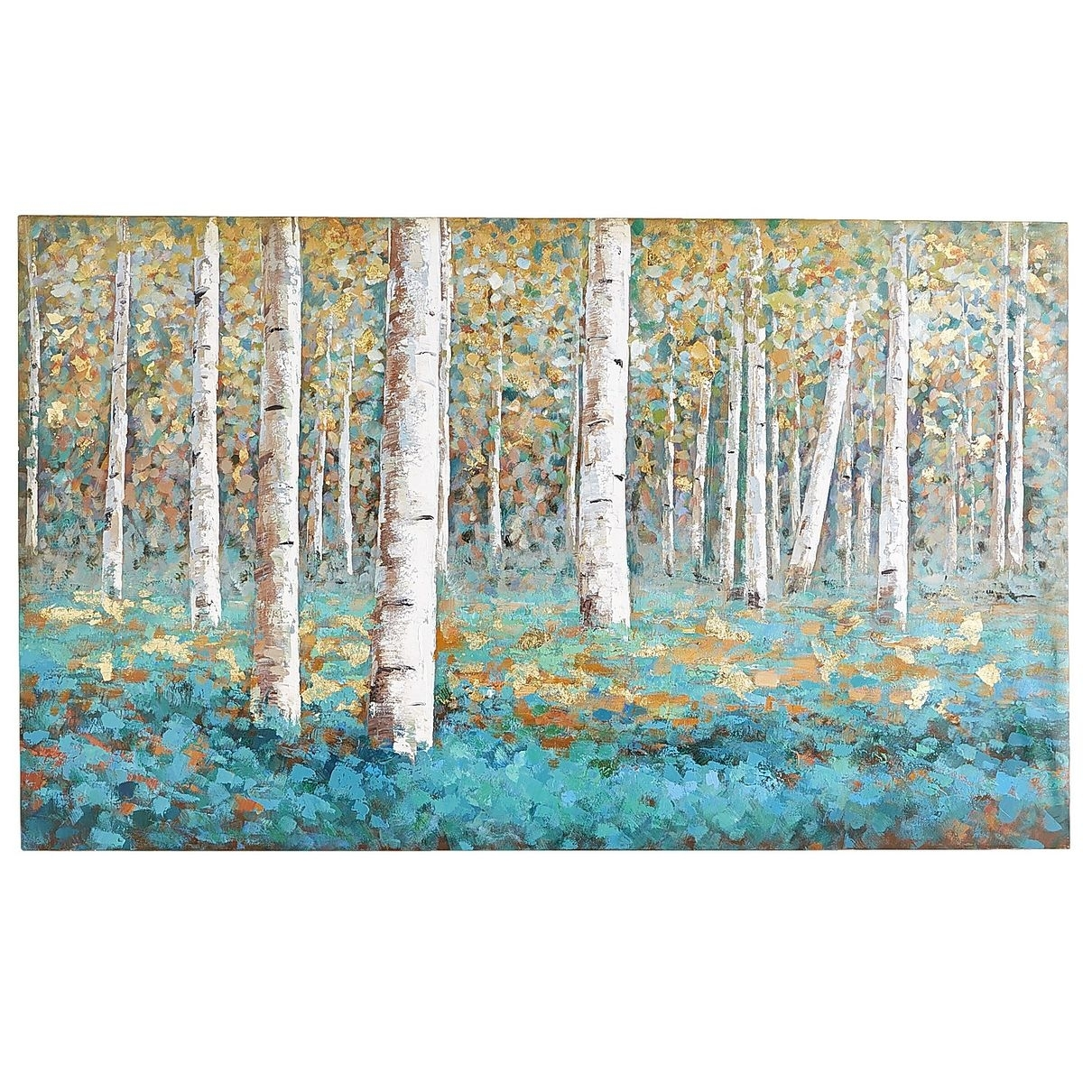 Luxe Teal Birch Tree Art | Tree Art, Birch And Teal Inside Newest Birch Trees Canvas Wall Art (View 10 of 15)
