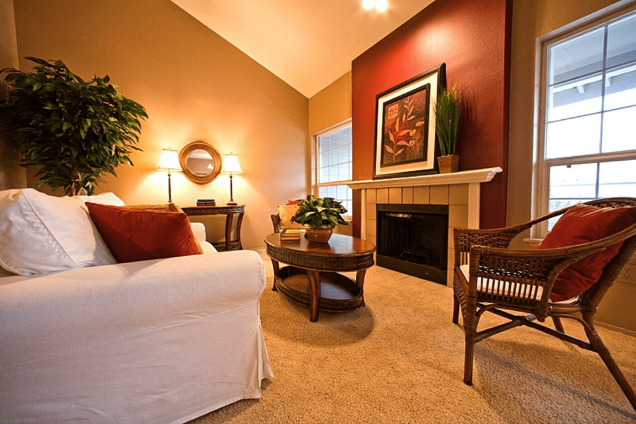 Luxuriant-Paint-Accent-Wall-Colors-Ideas-Warm-Living-Room-Nuanced regarding Most Recent Wall Colors And Accents