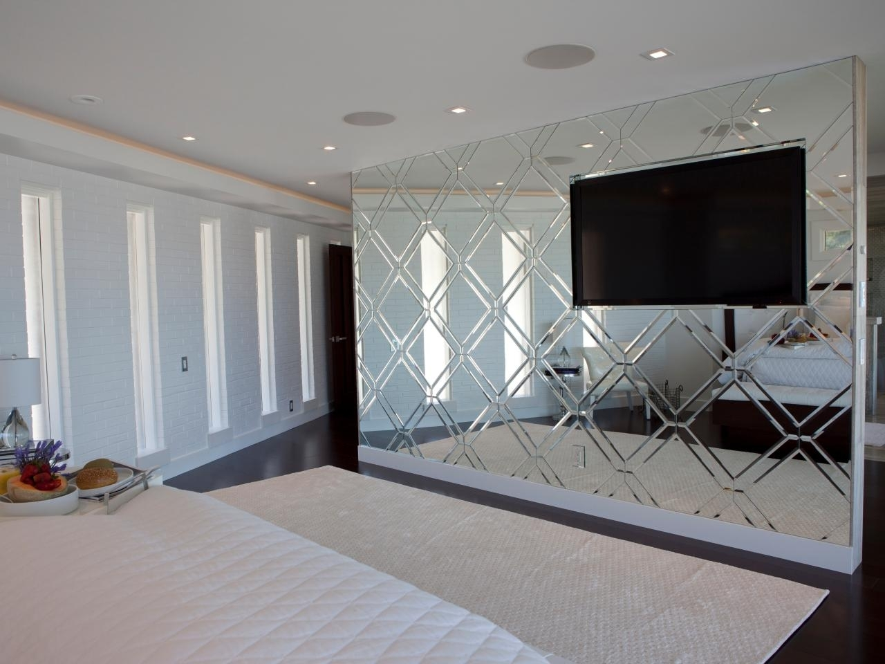 Luxury Custom Bedroom Mirrored Accent Wall A Custom Mirrored Focal With Regard To Most Current Custom Wall Accents (Gallery 12 of 15)