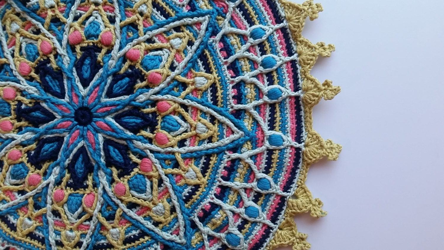 Lylah ~ Overlay Crochet Mandala Pattern, Crocheted Home Decor Regarding Newest Hanging Textile Wall Art (View 9 of 15)