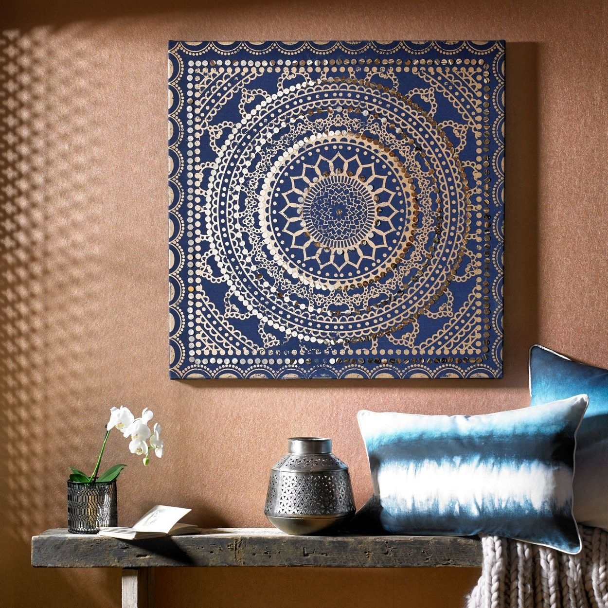 Make A Statement With This Moroccan Inspired Fabric Canvas (View 3 of 15)