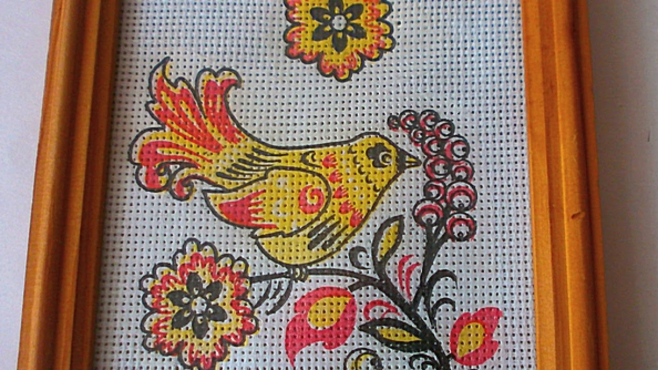 Make An Imitation Embroidery Wall Hanging – Diy Home Pertaining To Newest Fabric Wall Art Patterns (View 12 of 15)