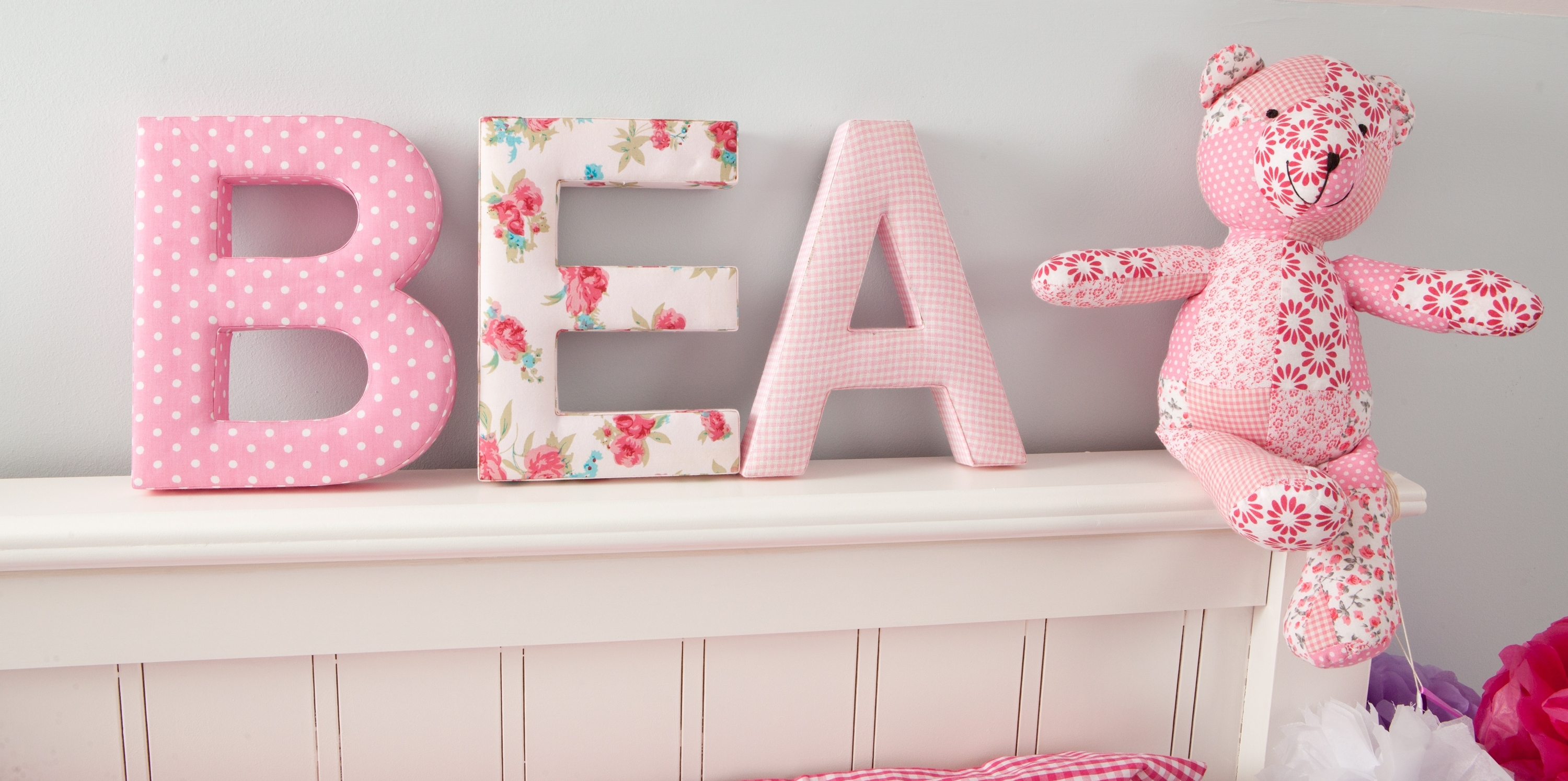 Make It Personal With Our Fabric Letters – Babyface Blog Pertaining To Best And Newest Fabric Wall Art Letters (View 13 of 15)