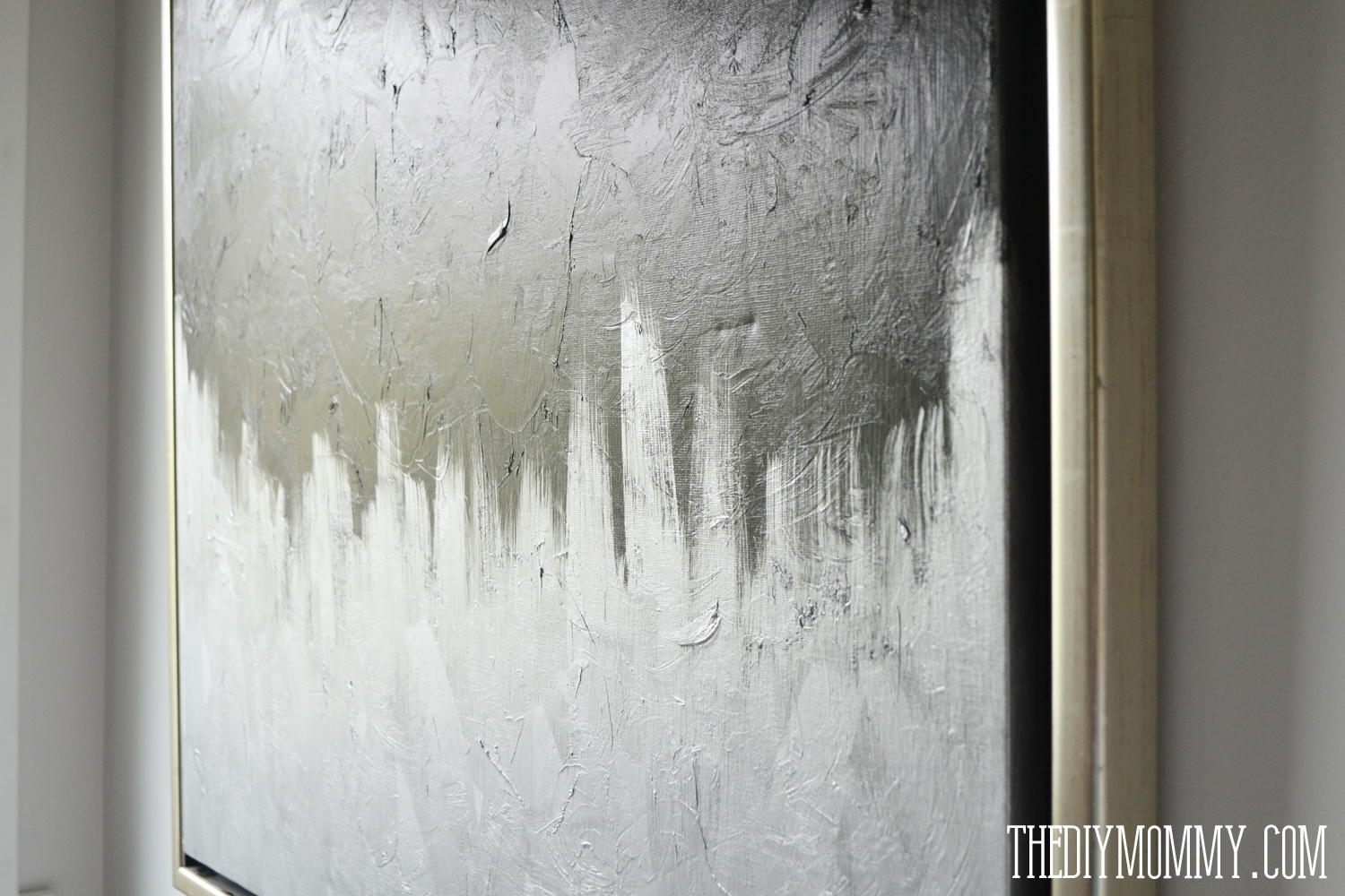 Make Modern Artwork From Thrift Store Canvas Art | The Diy Mommy Throughout Latest Textured Fabric Wall Art (View 10 of 15)