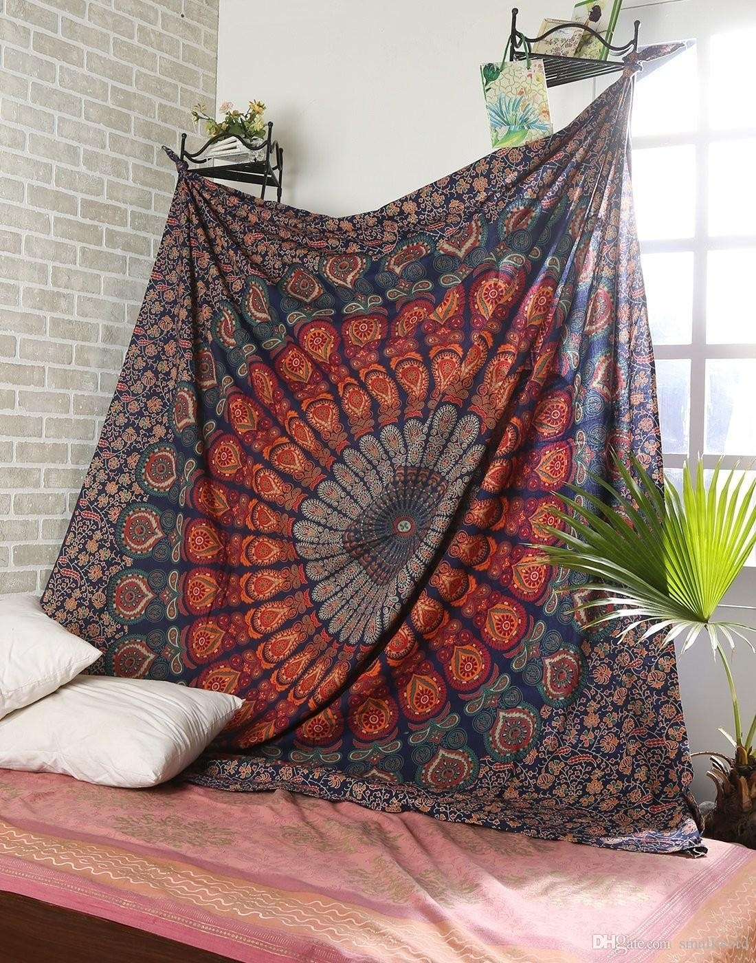 Mandala Tapestry Indian Wall Hanging Boho Home Decor Tapestry Intended For Most Current Indian Fabric Wall Art (Gallery 12 of 15)