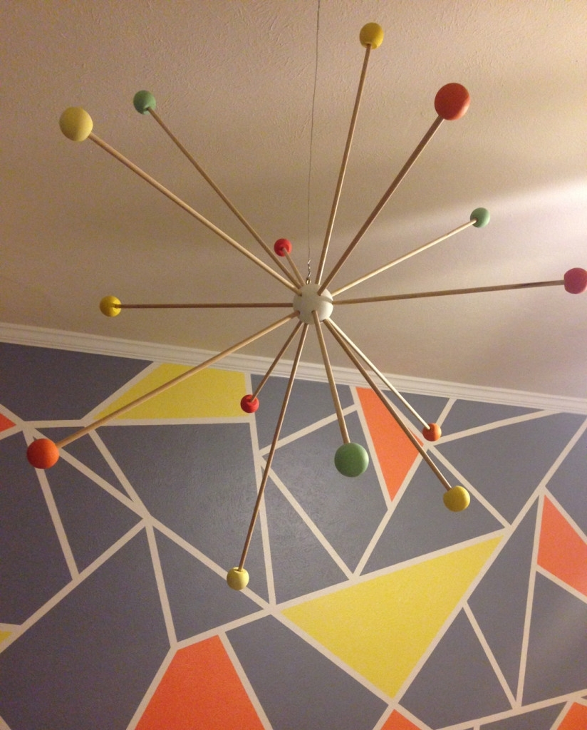 Margot's Modern Gray, Orange And Yellow Nursery | Shapes, Modern Regarding Most Popular Geometric Shapes Wall Accents (View 13 of 15)