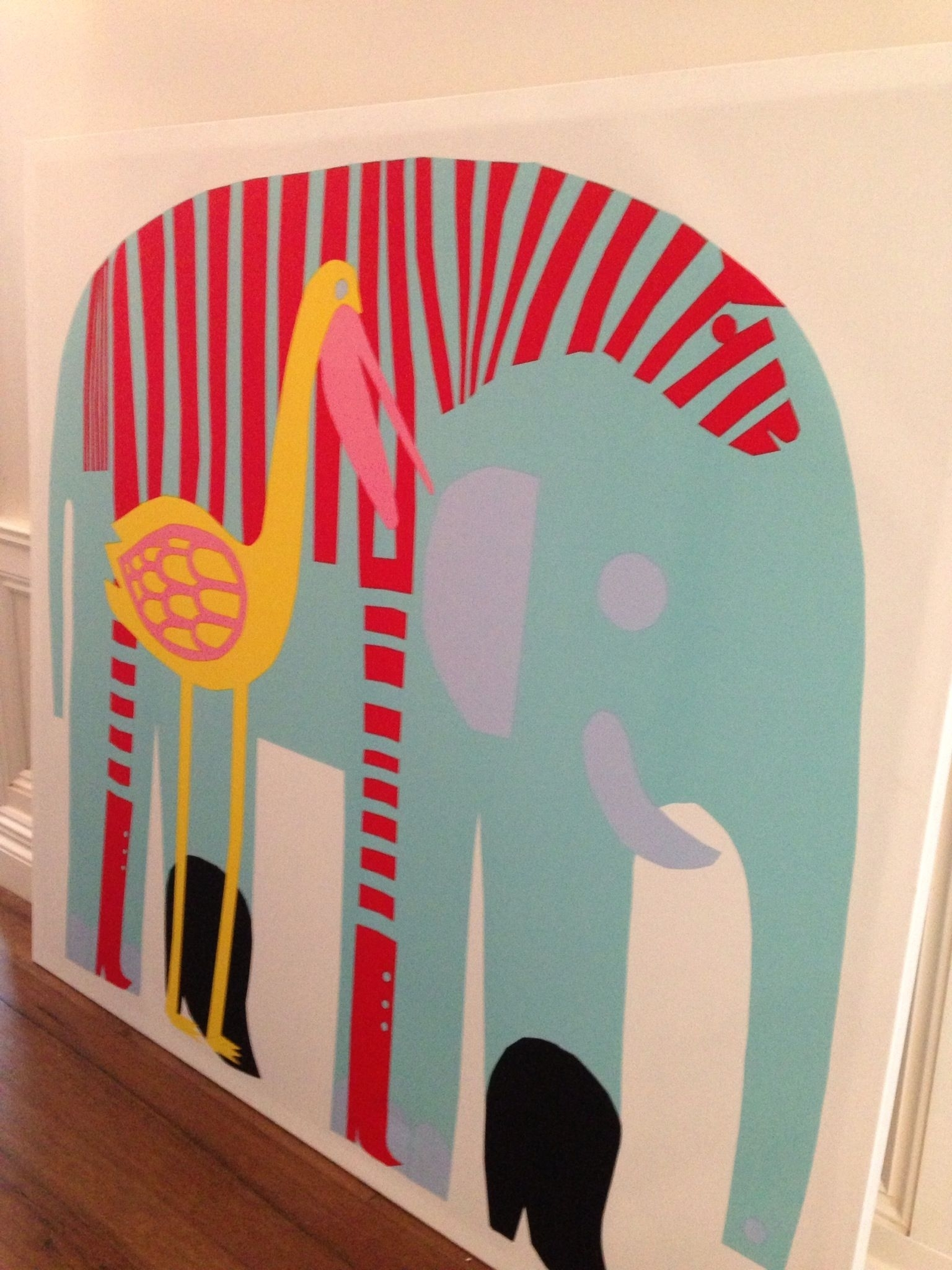 Marimekko Elephant Print For The Kids' Room. | Little Ones Inside 2017 Marimekko 'karkuteilla' Fabric Wall Art (Gallery 4 of 15)